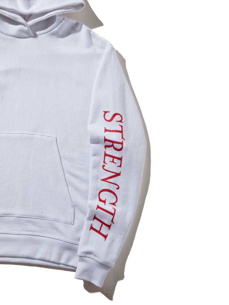White Oversized Cropped Hooded Sweatshirt (TOURNAMENT) 622719428105