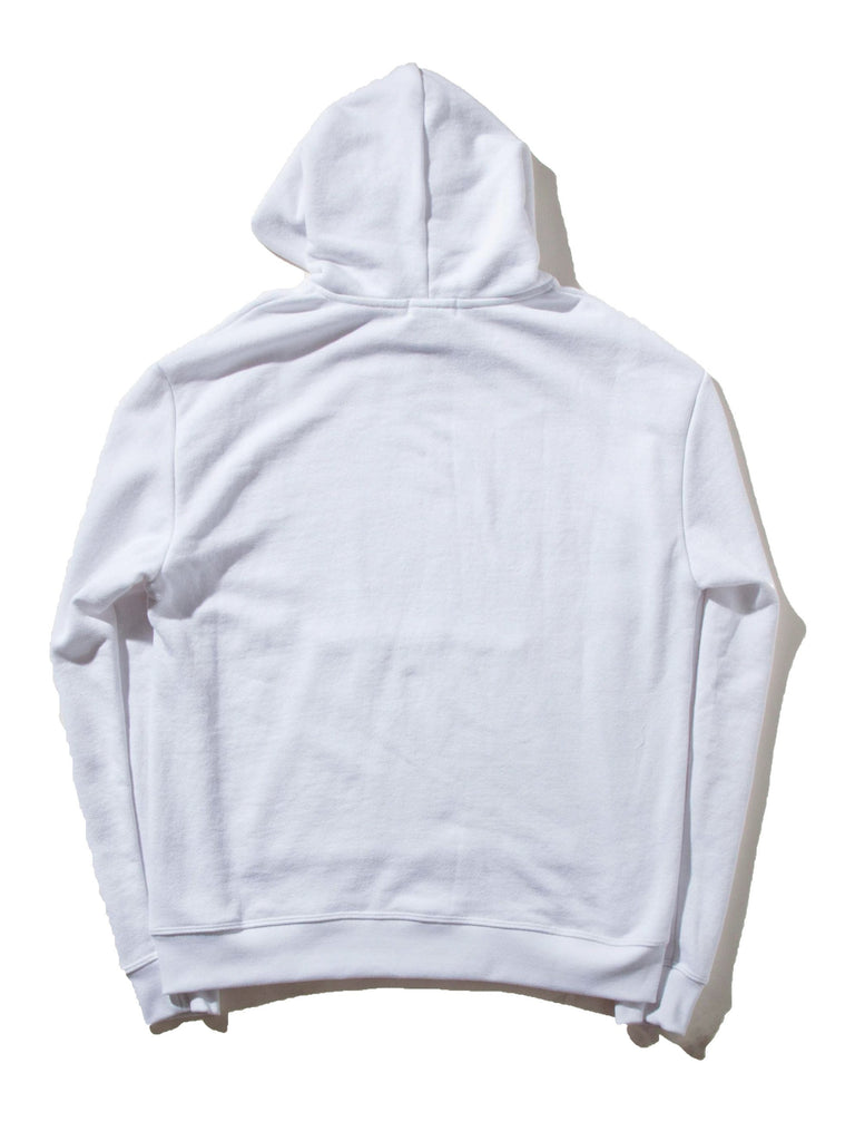 White Oversized Cropped Hooded Sweatshirt (TOURNAMENT) 822719444873