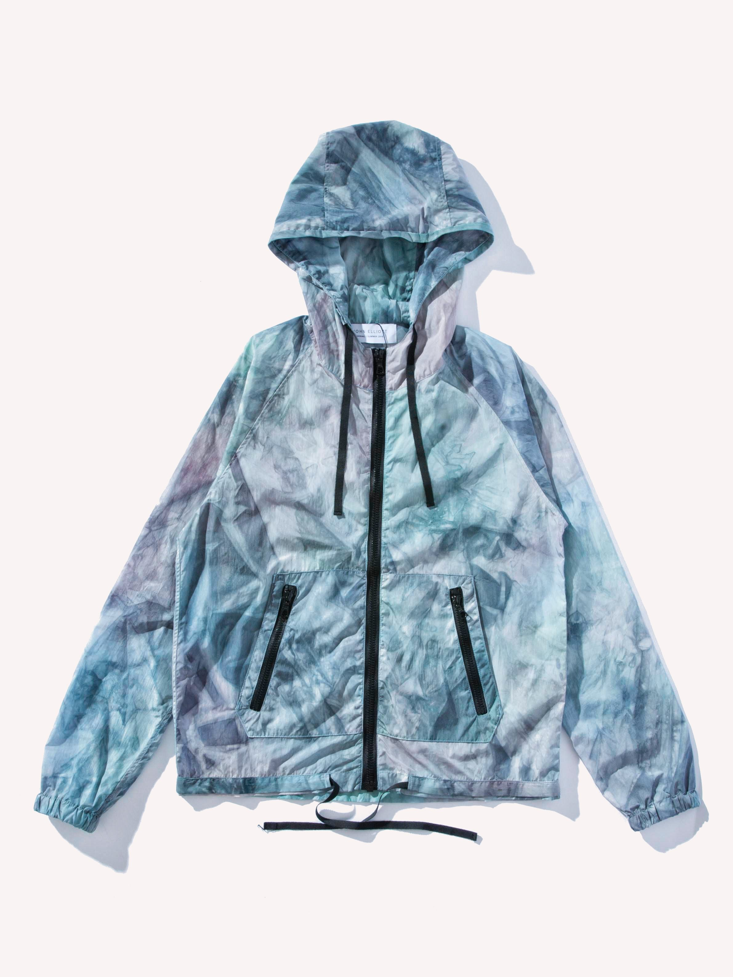Blue/Purple Shell Jacket Tie-Dye 1