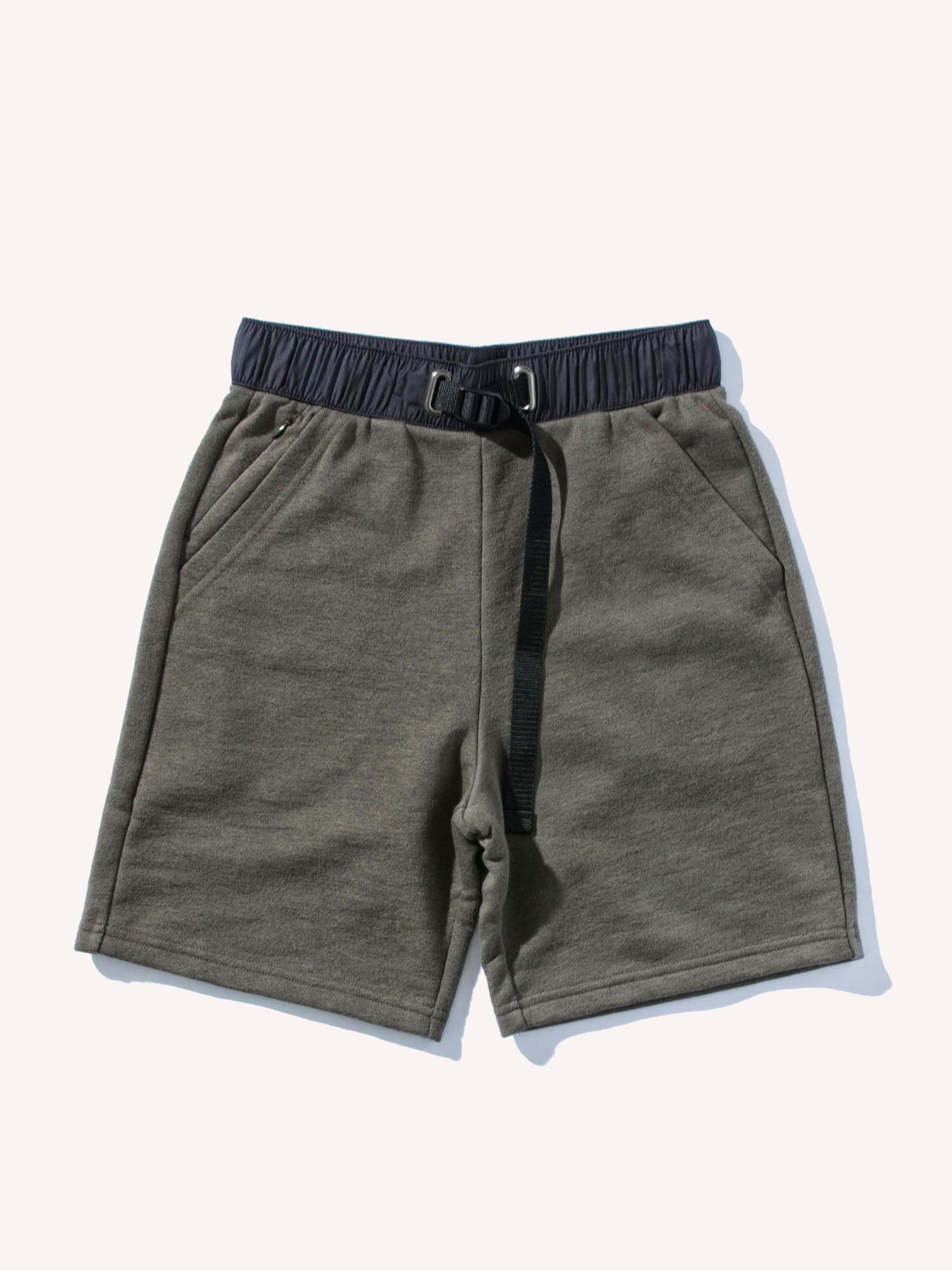 Dark Olive Mountain Terry Shorts 1