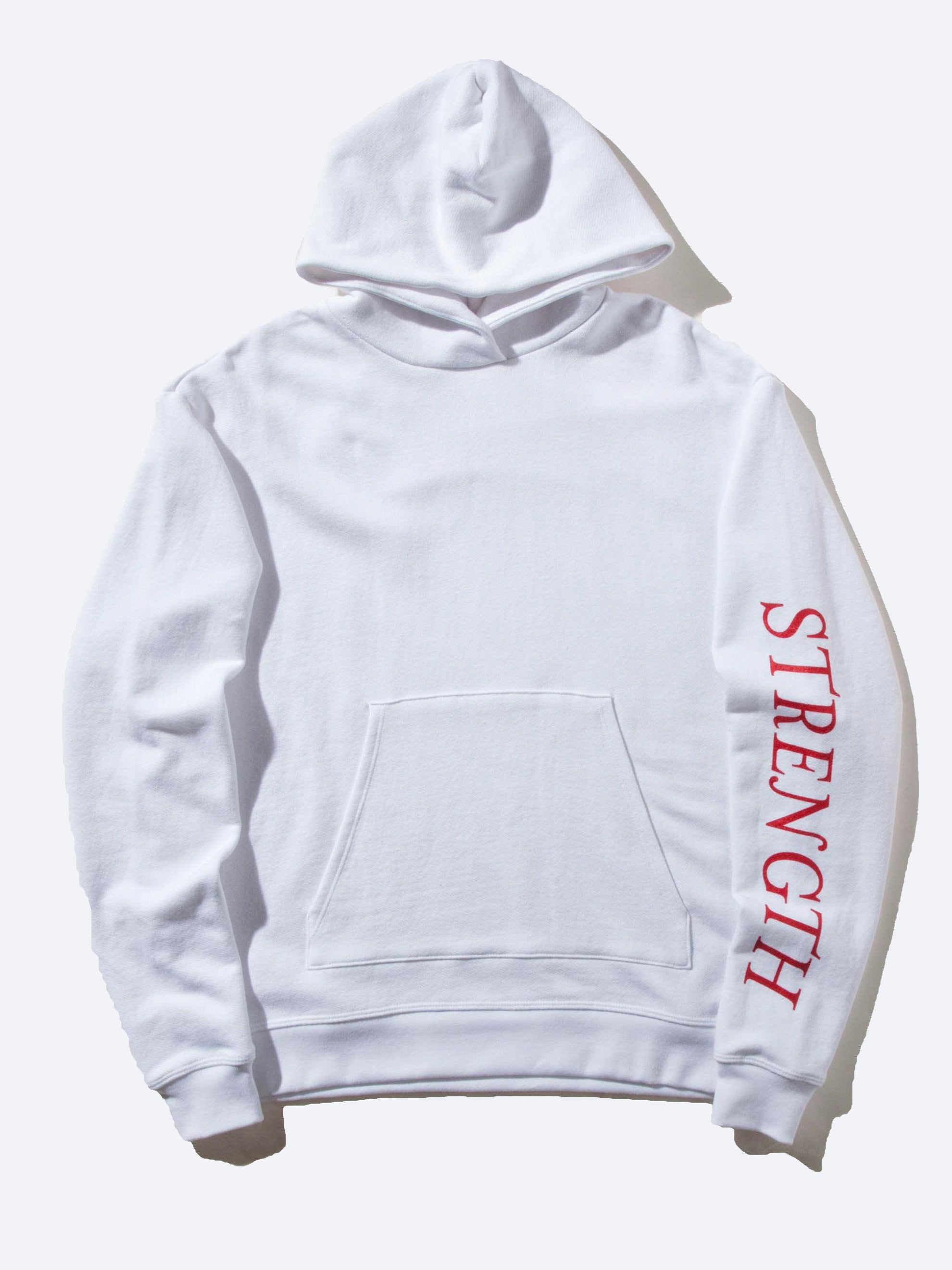 White Oversized Cropped Hooded Sweatshirt (TOURNAMENT) 1