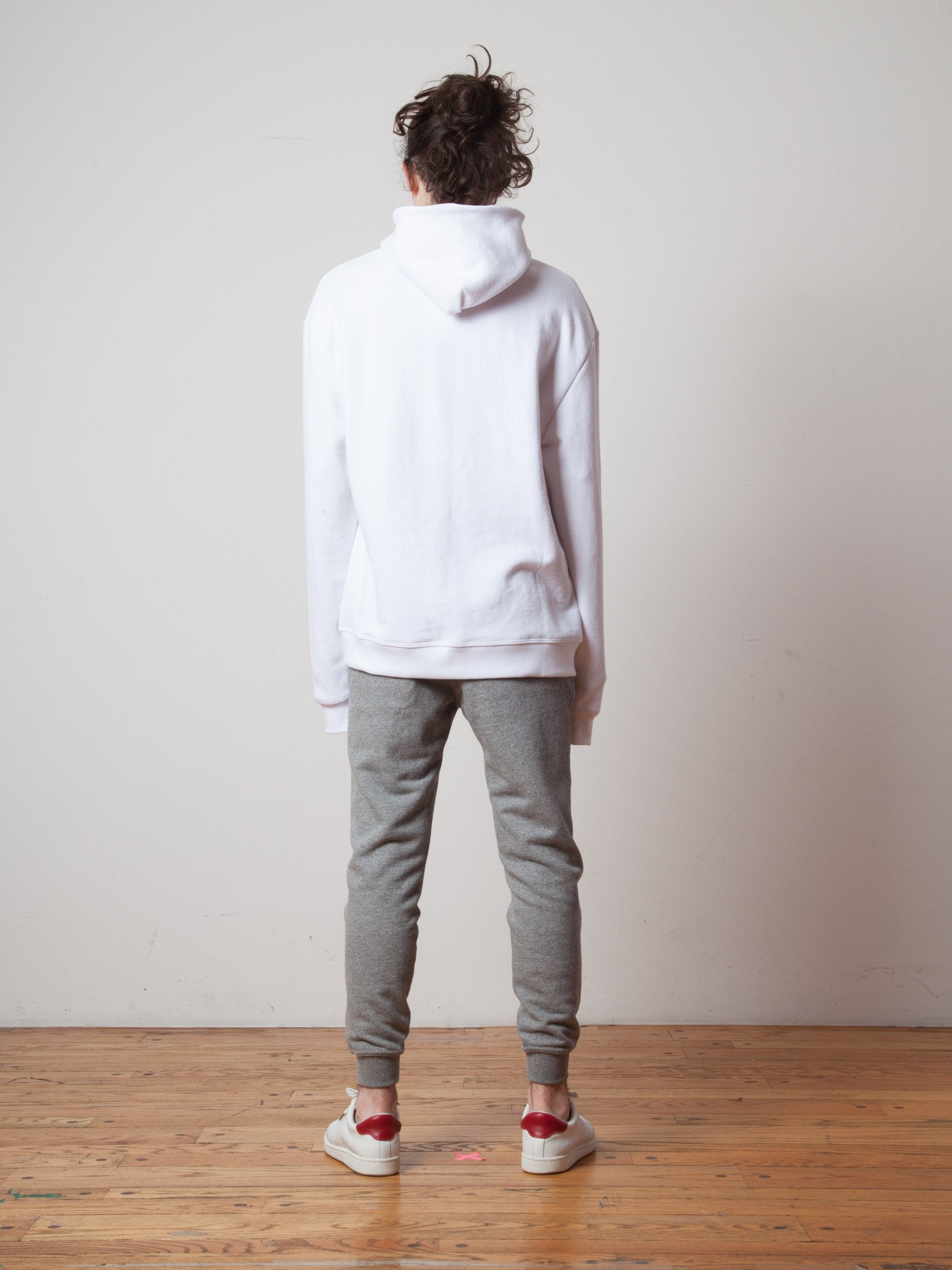 White Oversized Cropped Hooded Sweatshirt (TOURNAMENT) 3