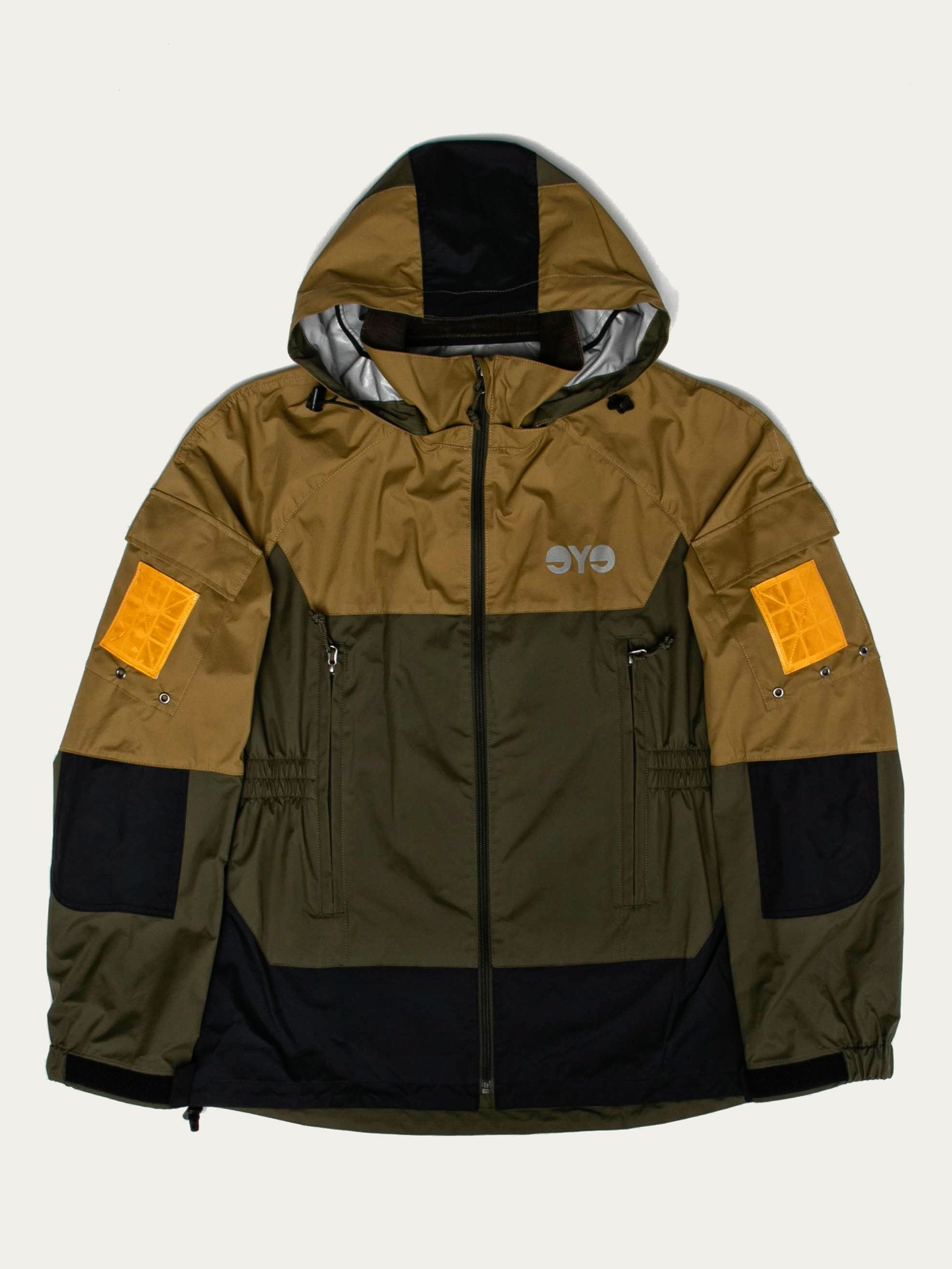 Color-Block Hooded Parka (eYe)