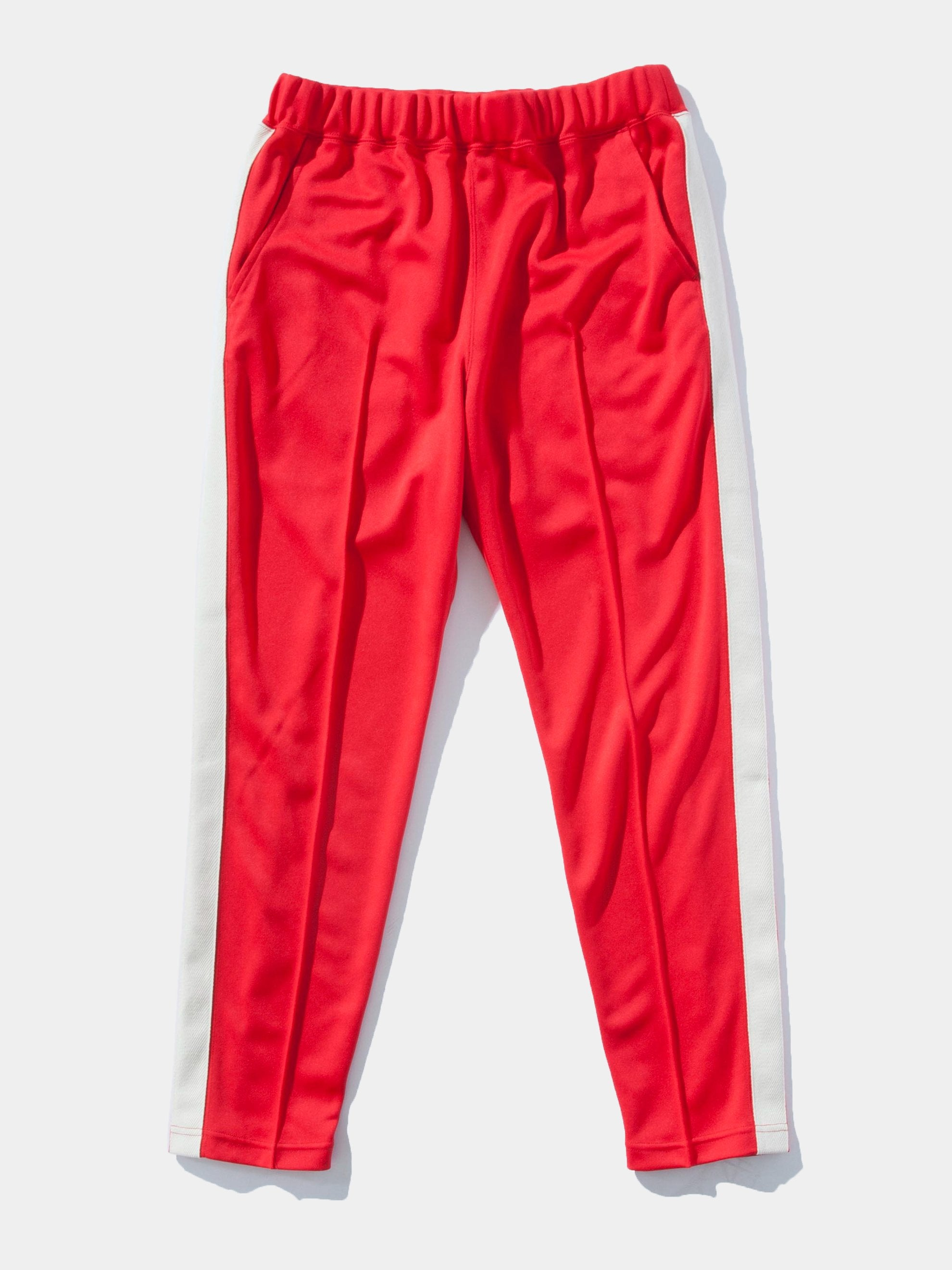 Red Pleated Track Pant 1