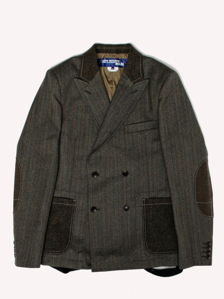 Patchwork Double-Breasted Blazer