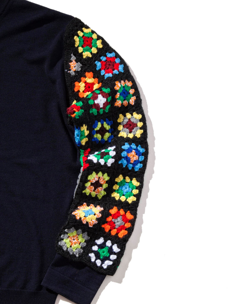 Crew Neck Crotchet Sleeves
