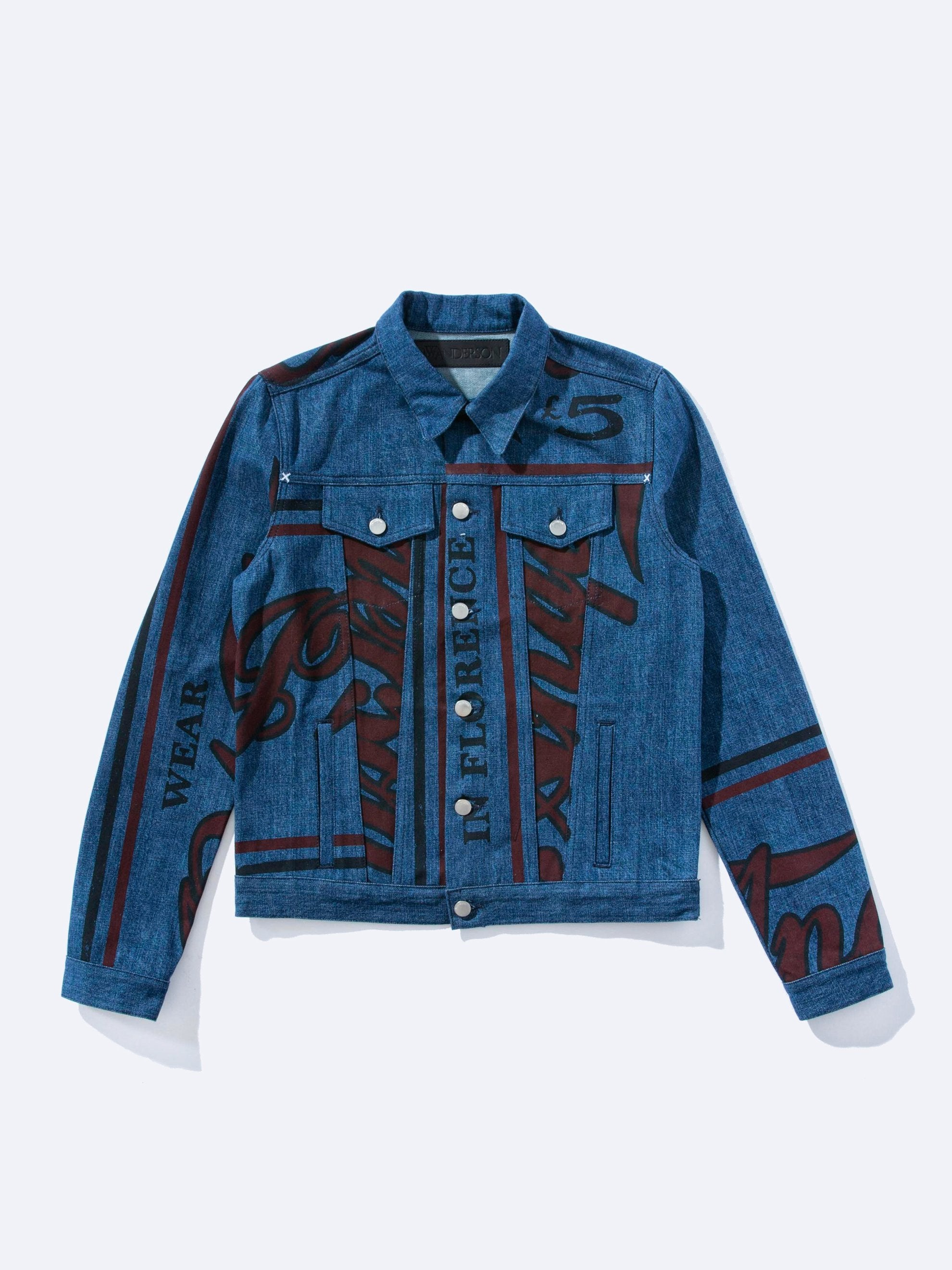 Printed Denim Wear JWA in Florence Denim Jacket 1