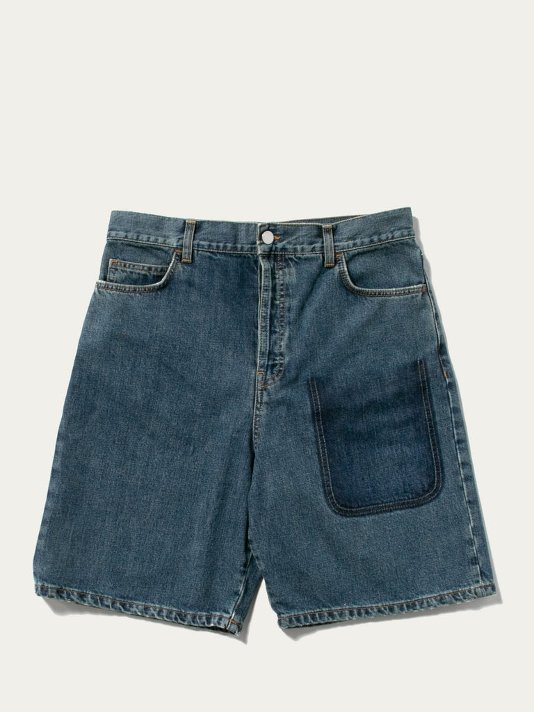 Shaded Pocket Denim Shorts