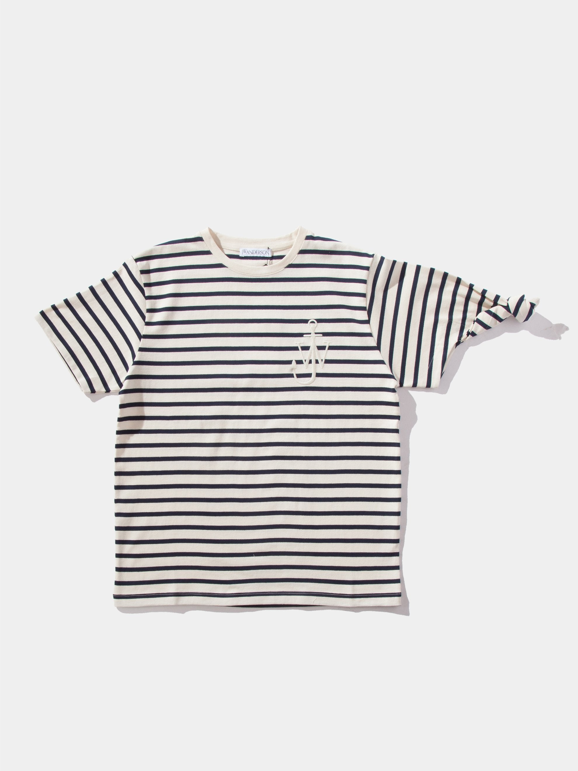 Off White Breton Stripe Knot T-Shirt 1