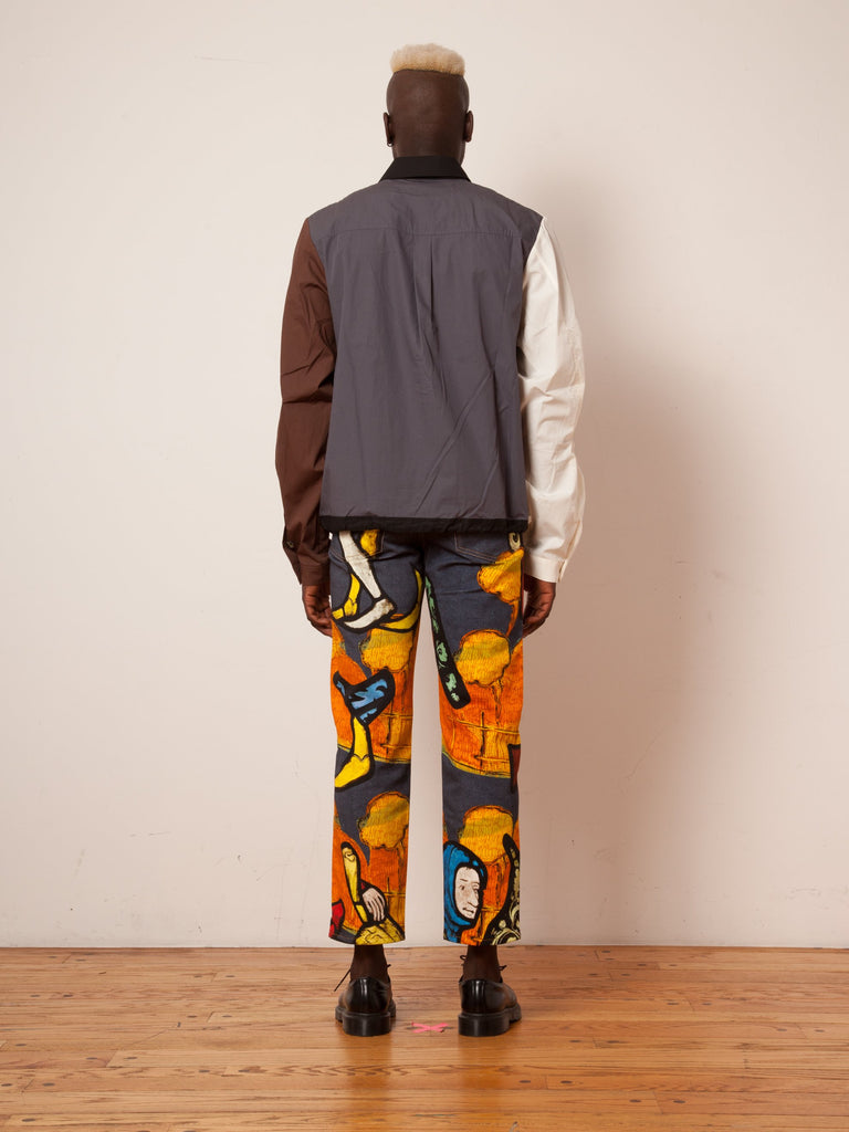 Tapestry Denim Trousers