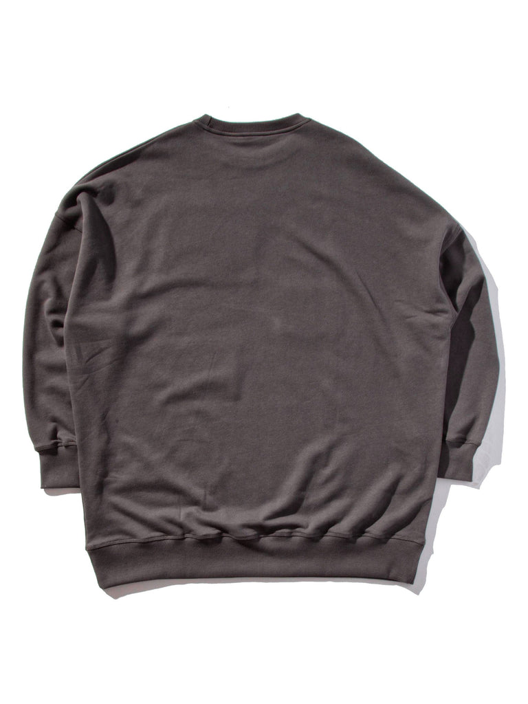 Anthracite Oversized Sweatshirt (Crotchet Patches) 822497904777