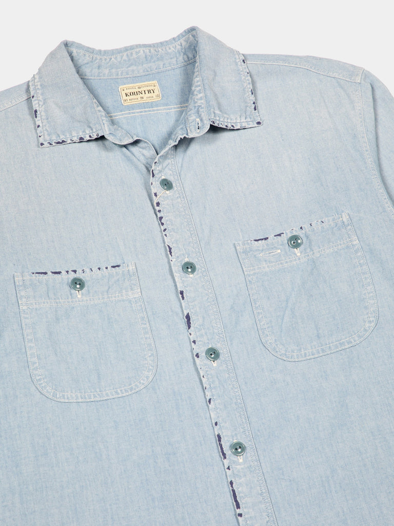 Chambray Kountry Work Shirt (Rain Bandana Remake)14999198498893
