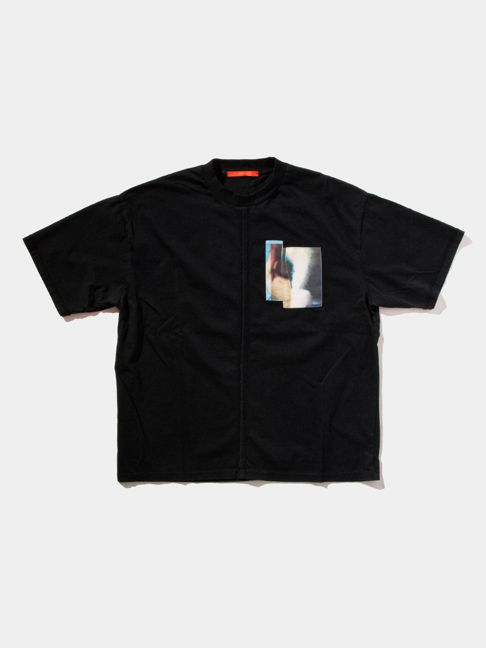 Black Jersey Cuts T-Shirt (Patch) 1
