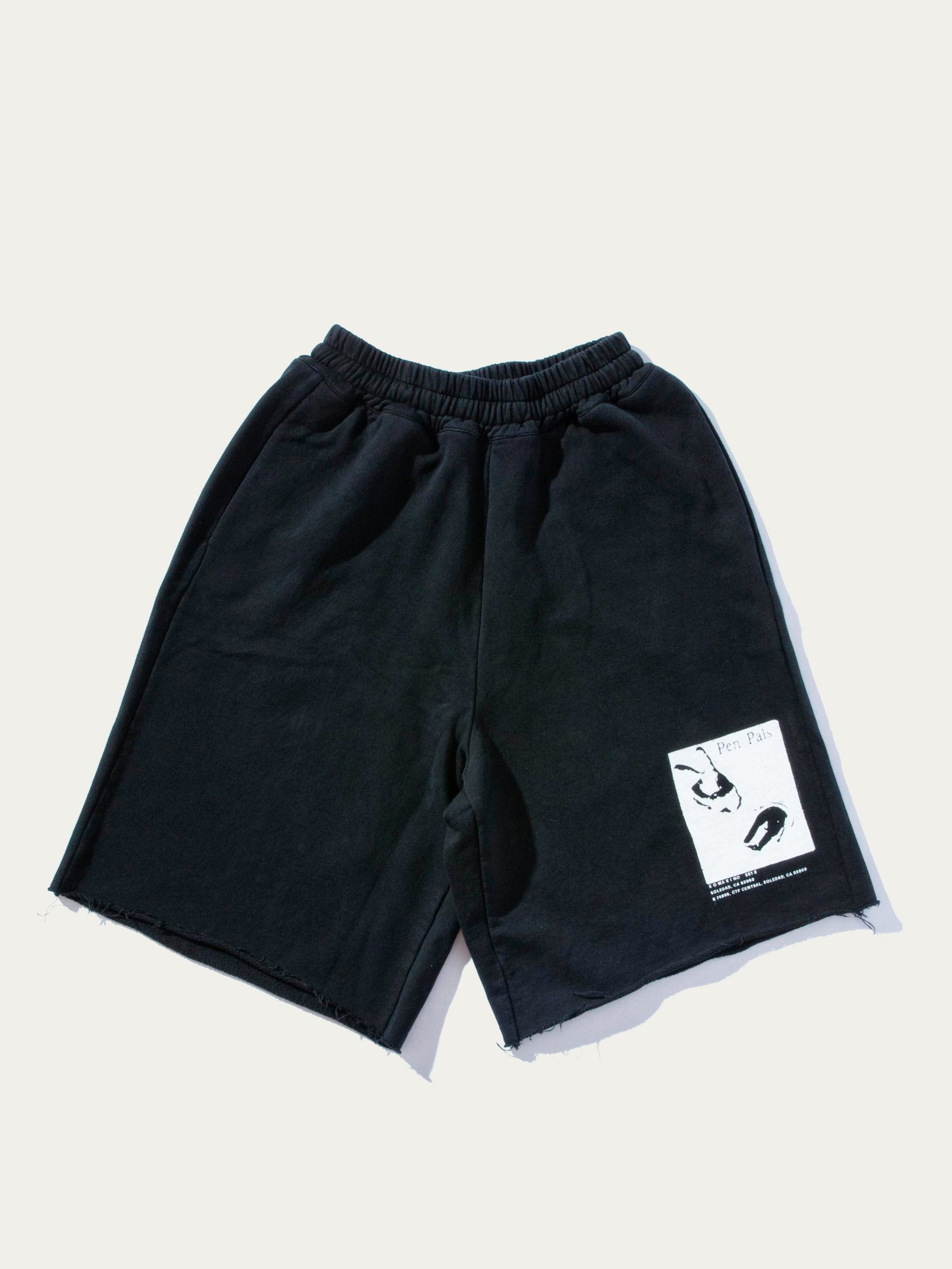 Black Jersey Elasticated Shorts 1