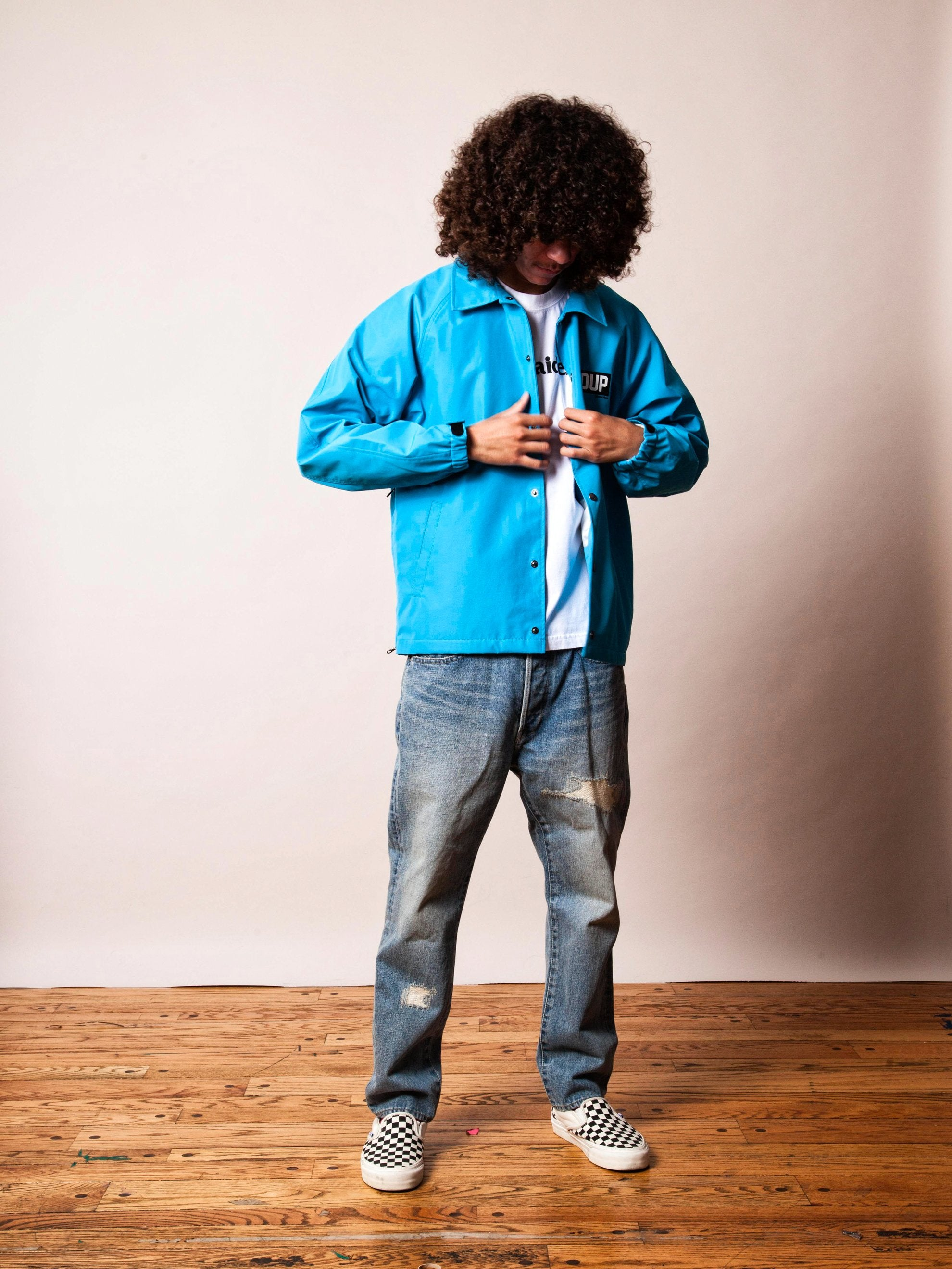 Blue 3Layer Coach Jacket 7