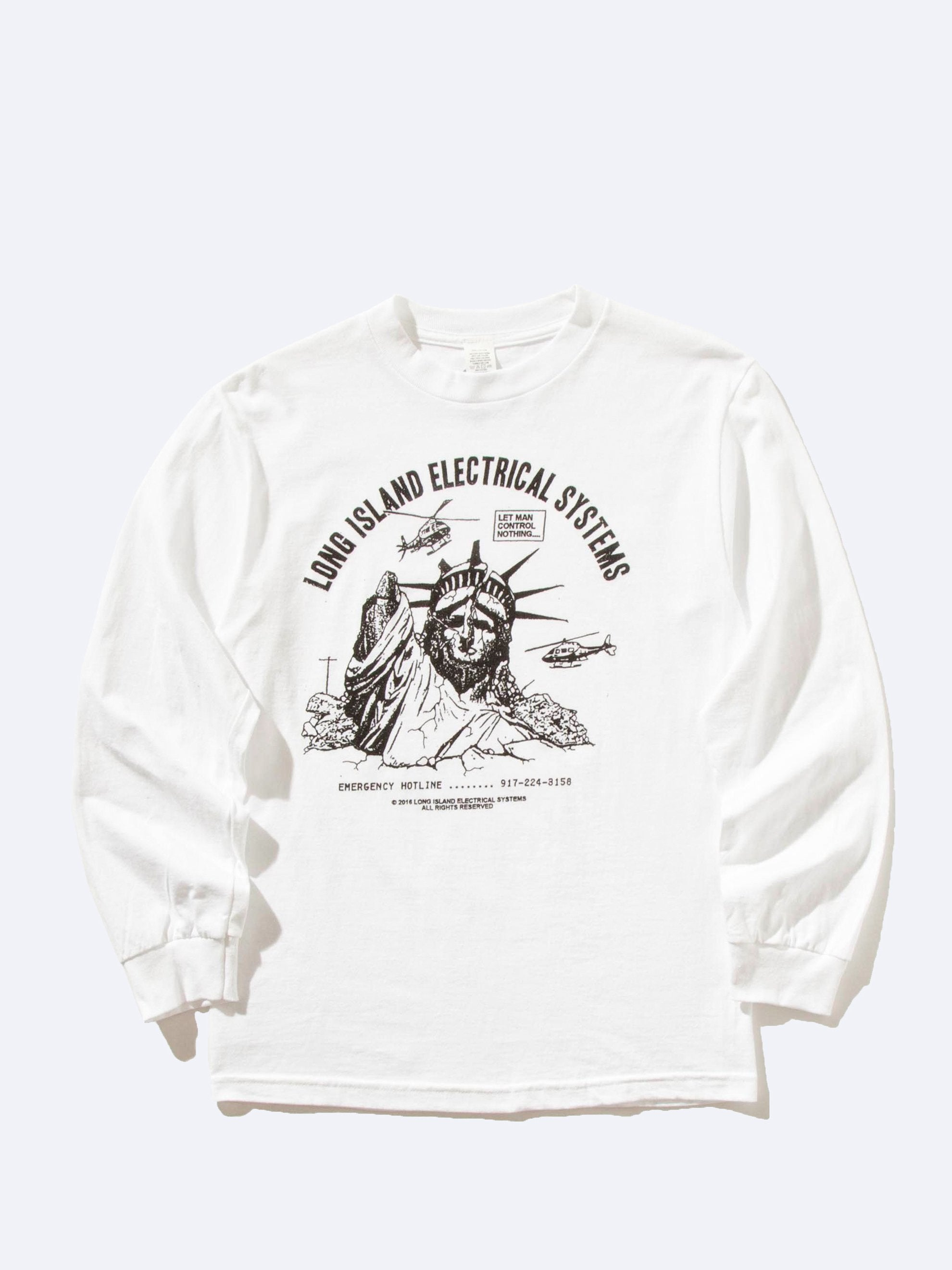 White Let Man Control Nothing Long Sleeve T-Shirt 1
