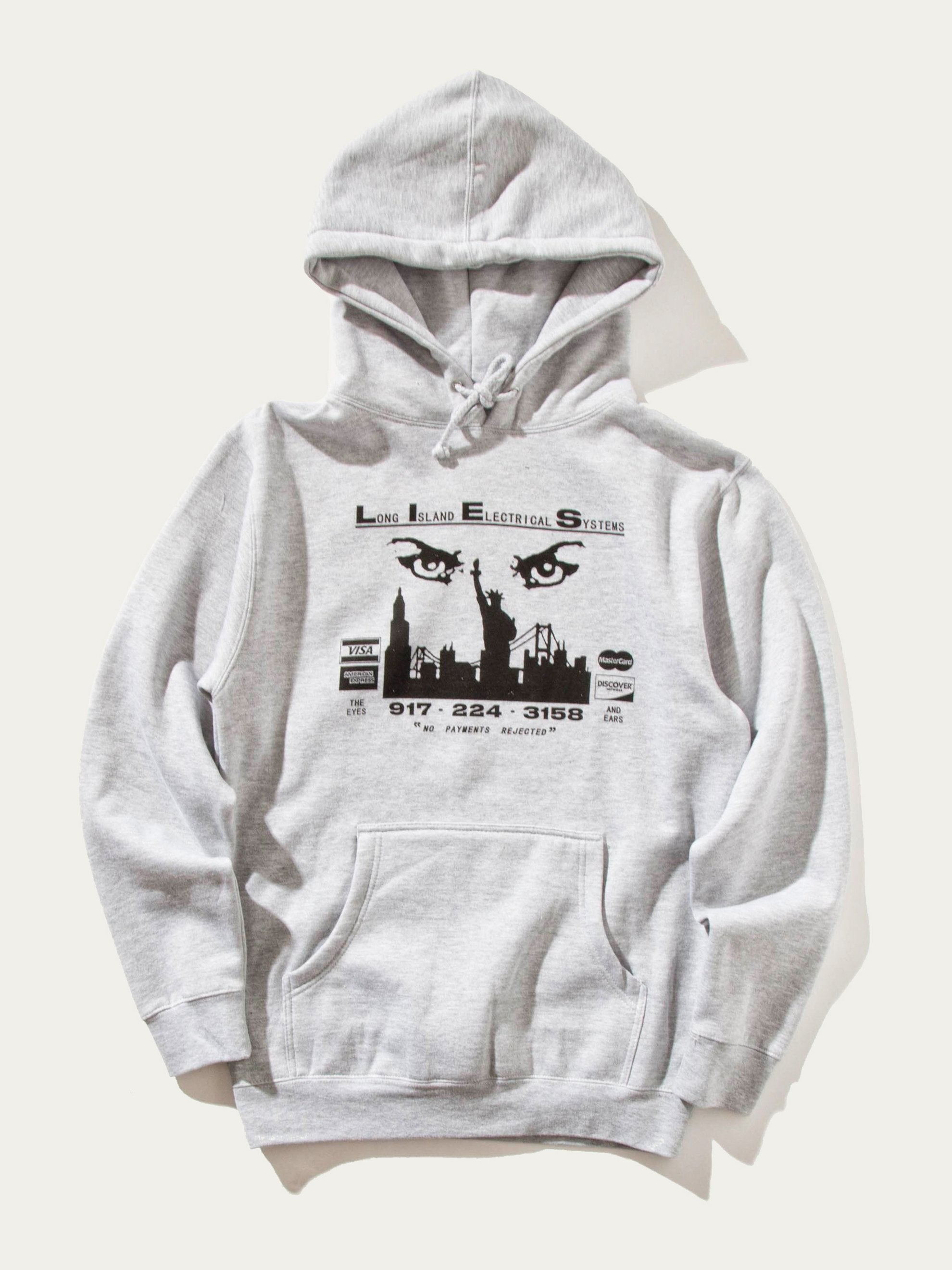 Grey Eyes and Ears Hooded Sweatshirt 1