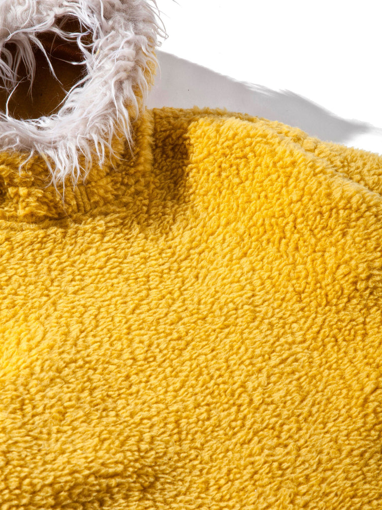Yellow Sherpa Pullover Hooded Jacket 613572171169869