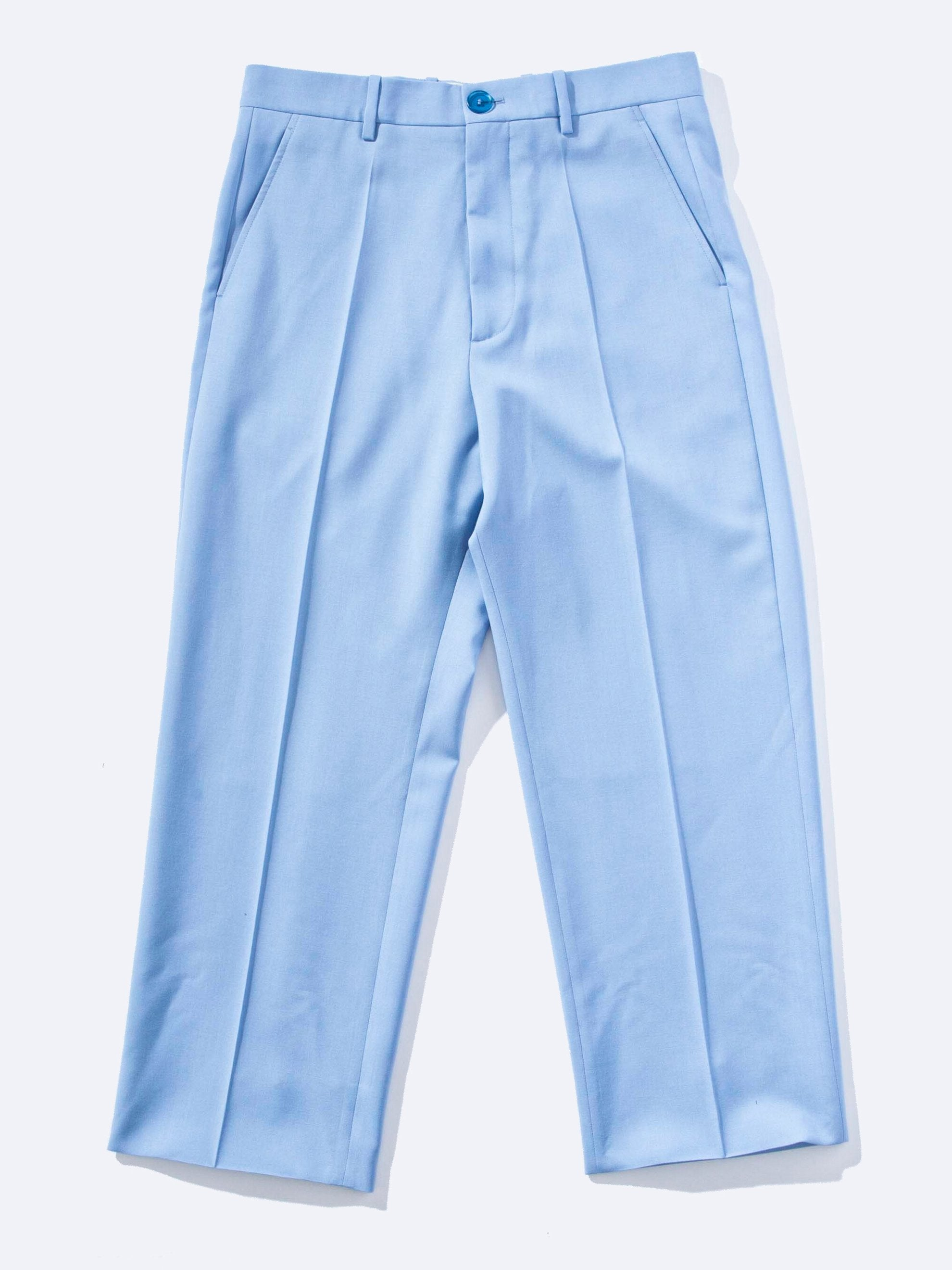 Sky Blue Tropical Wool Trouser 1