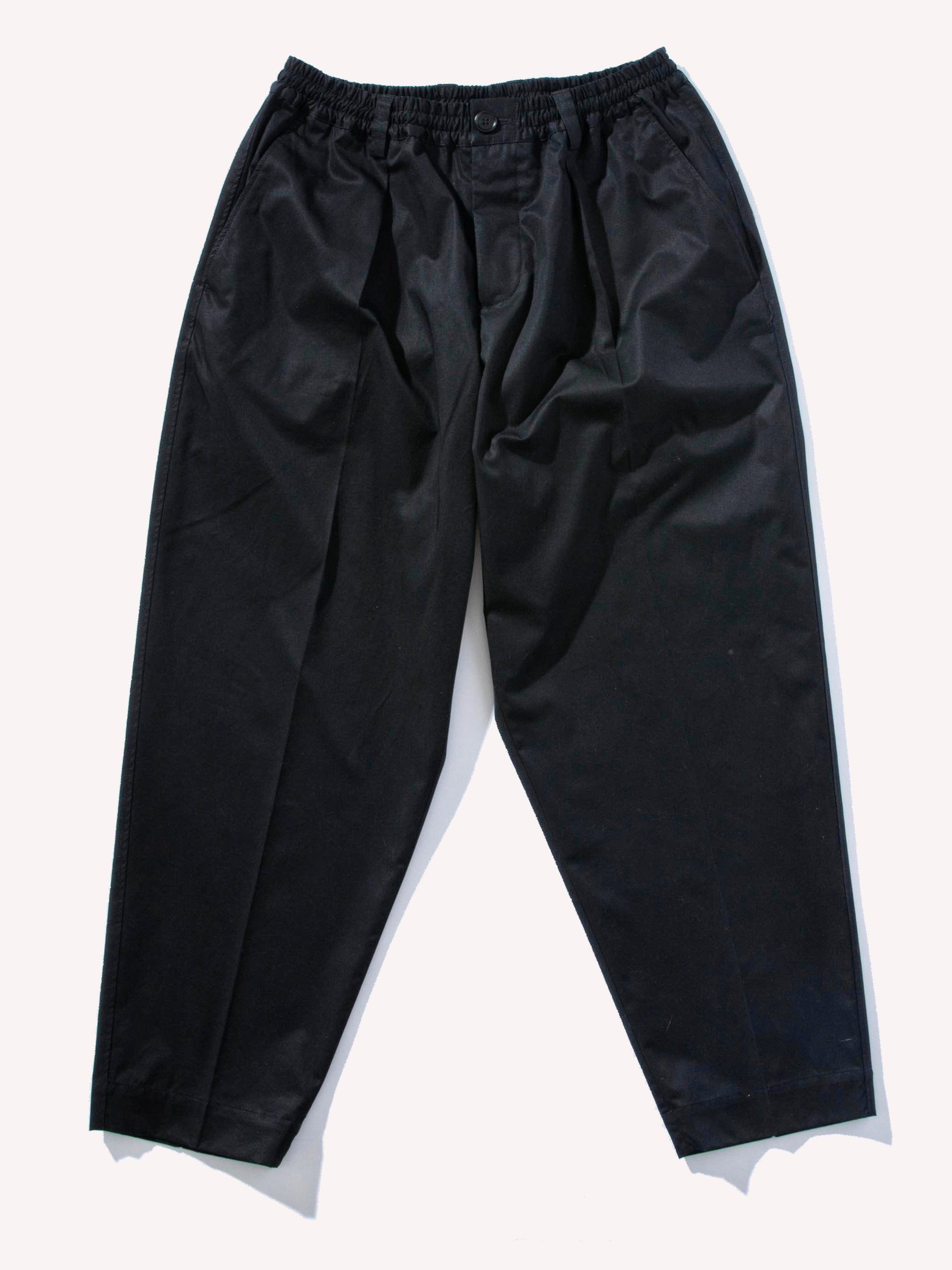 Black Cotton Satin Trouser 1