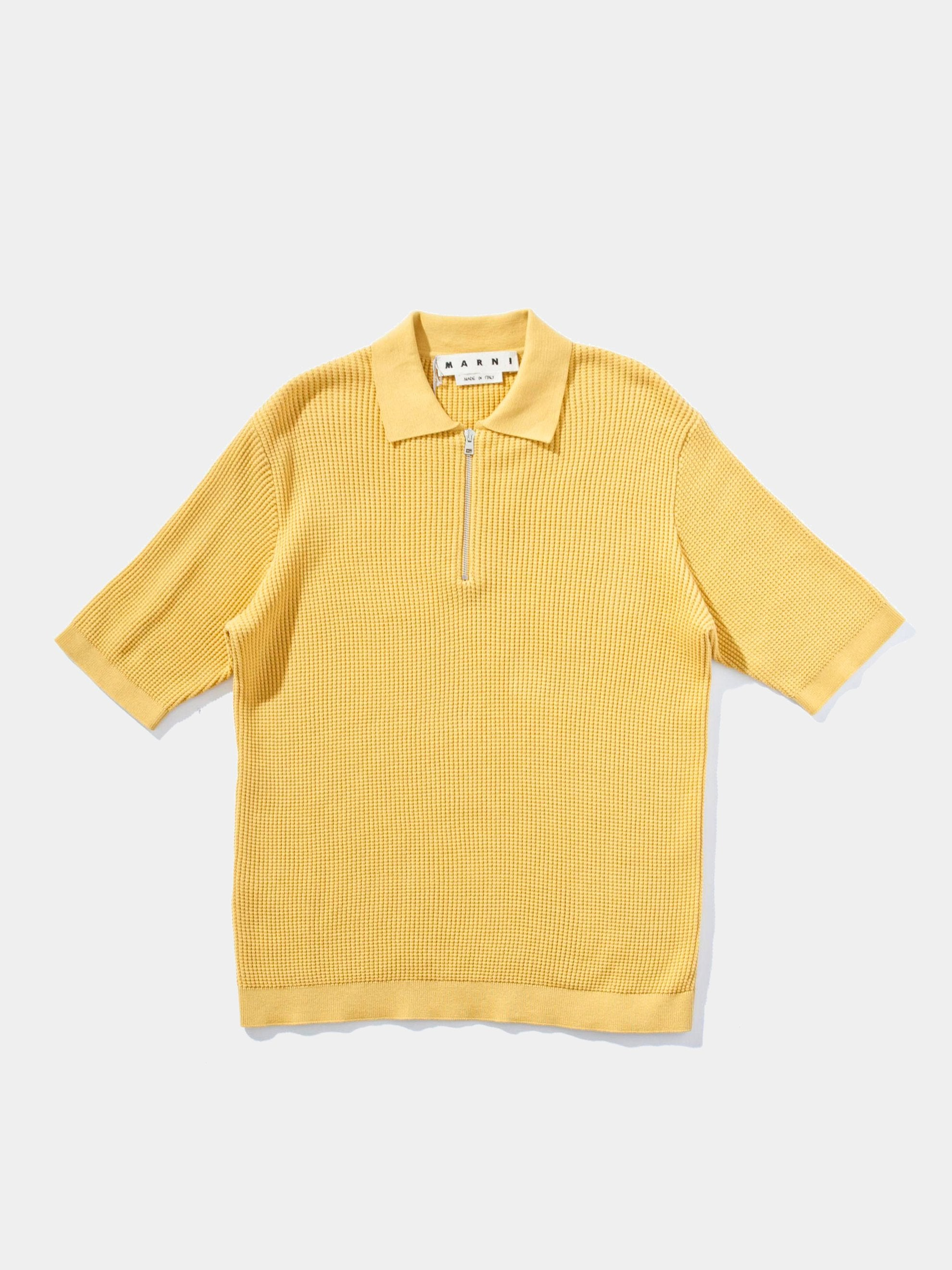 Knit Zip Polo S/S Sweater