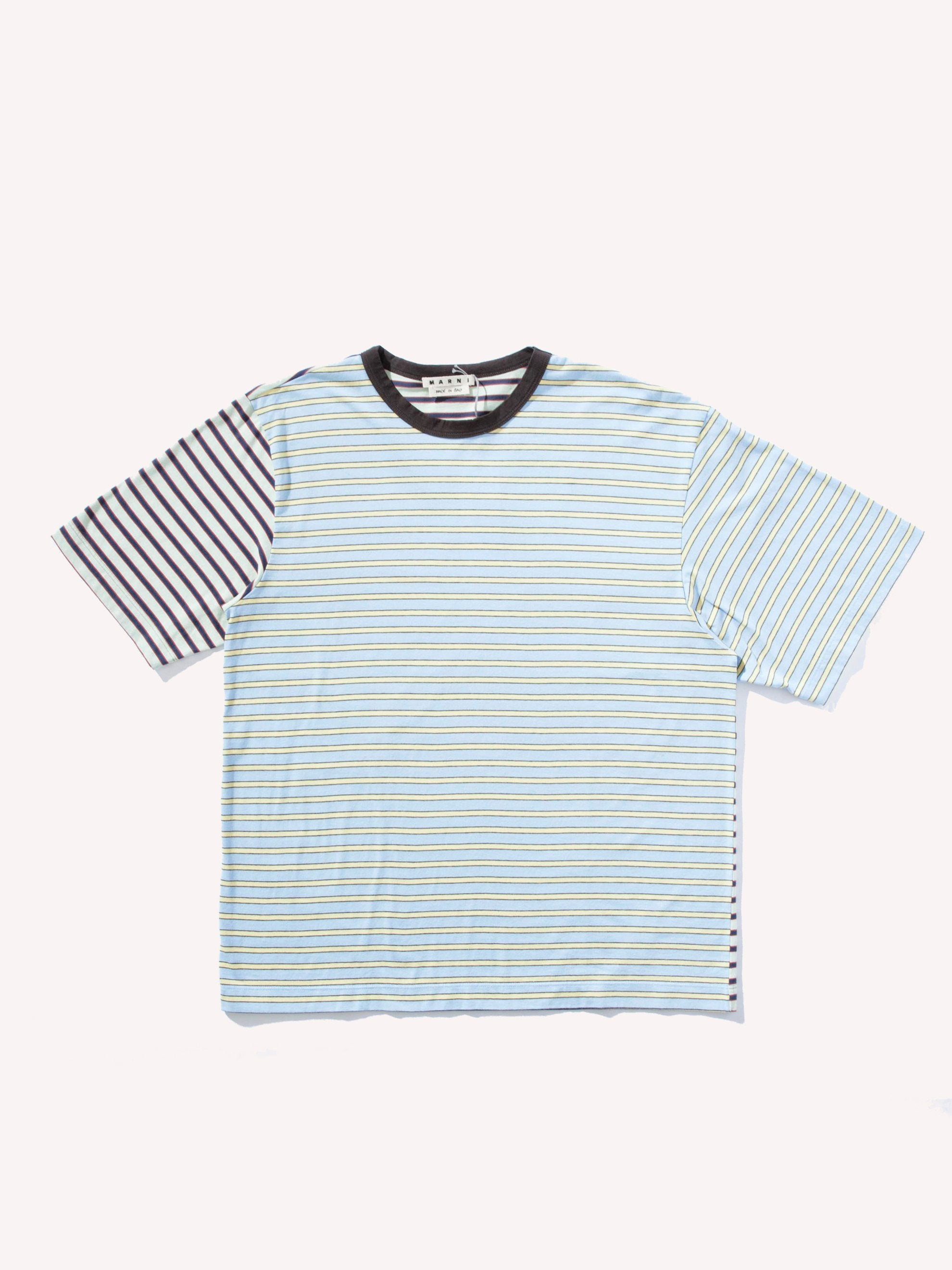 Mint/Blue/Yellow Multi Stripe Jersey T-Shirt 1