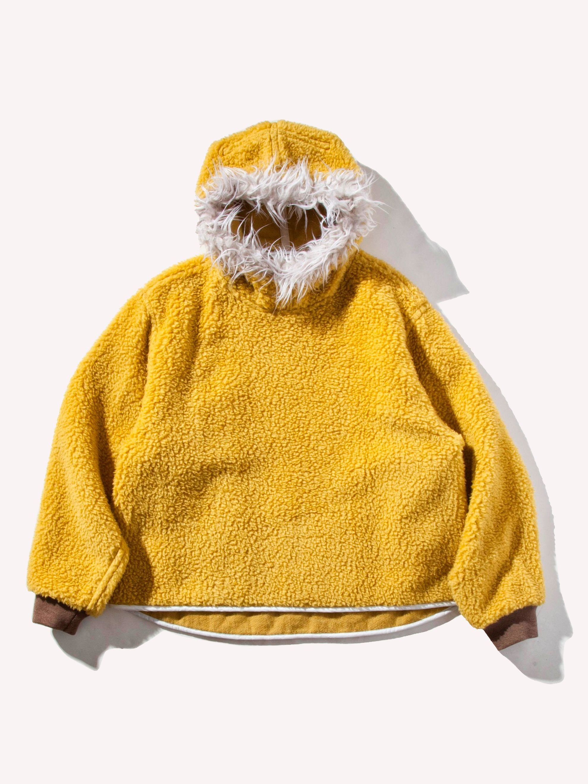 Yellow Sherpa Pullover Hooded Jacket 1