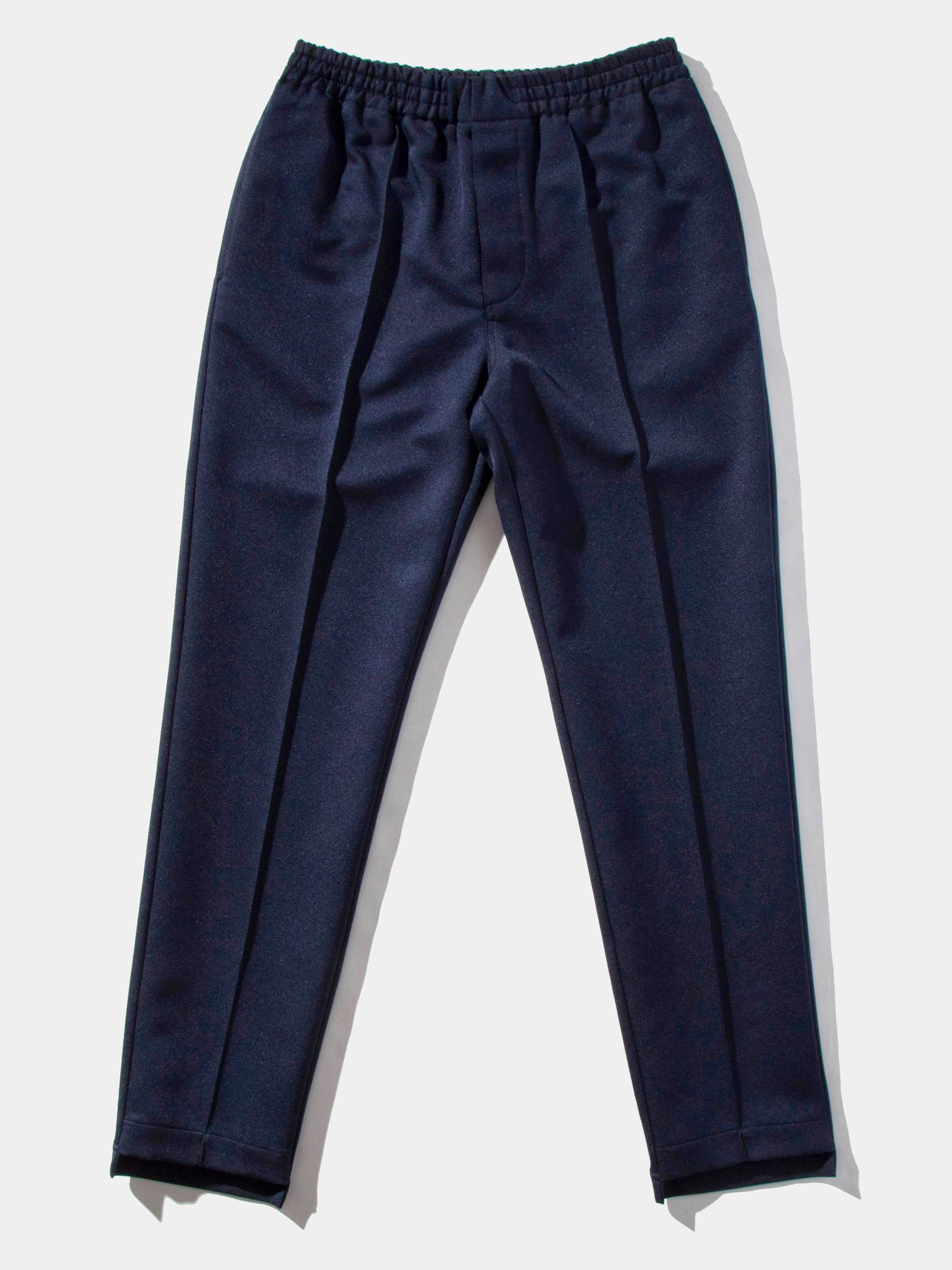 Navy Pleated Poly Trouser 1