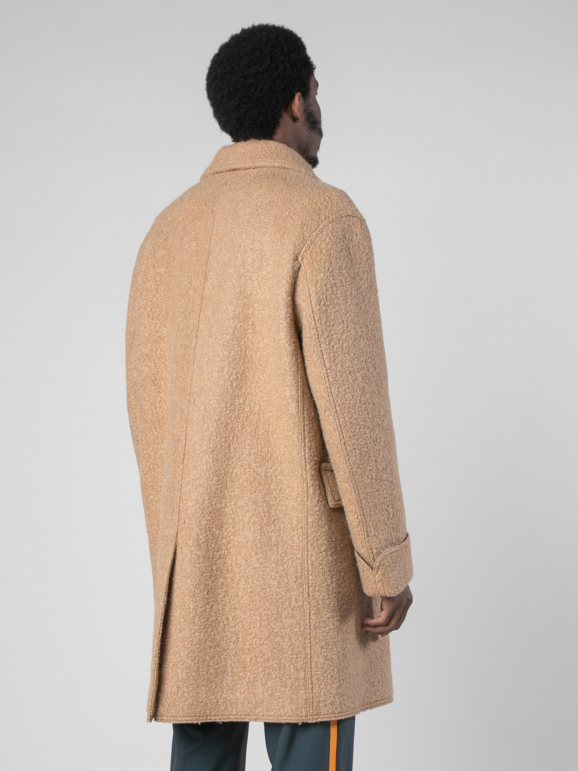 Camel Leopard Edged Overcoat 5
