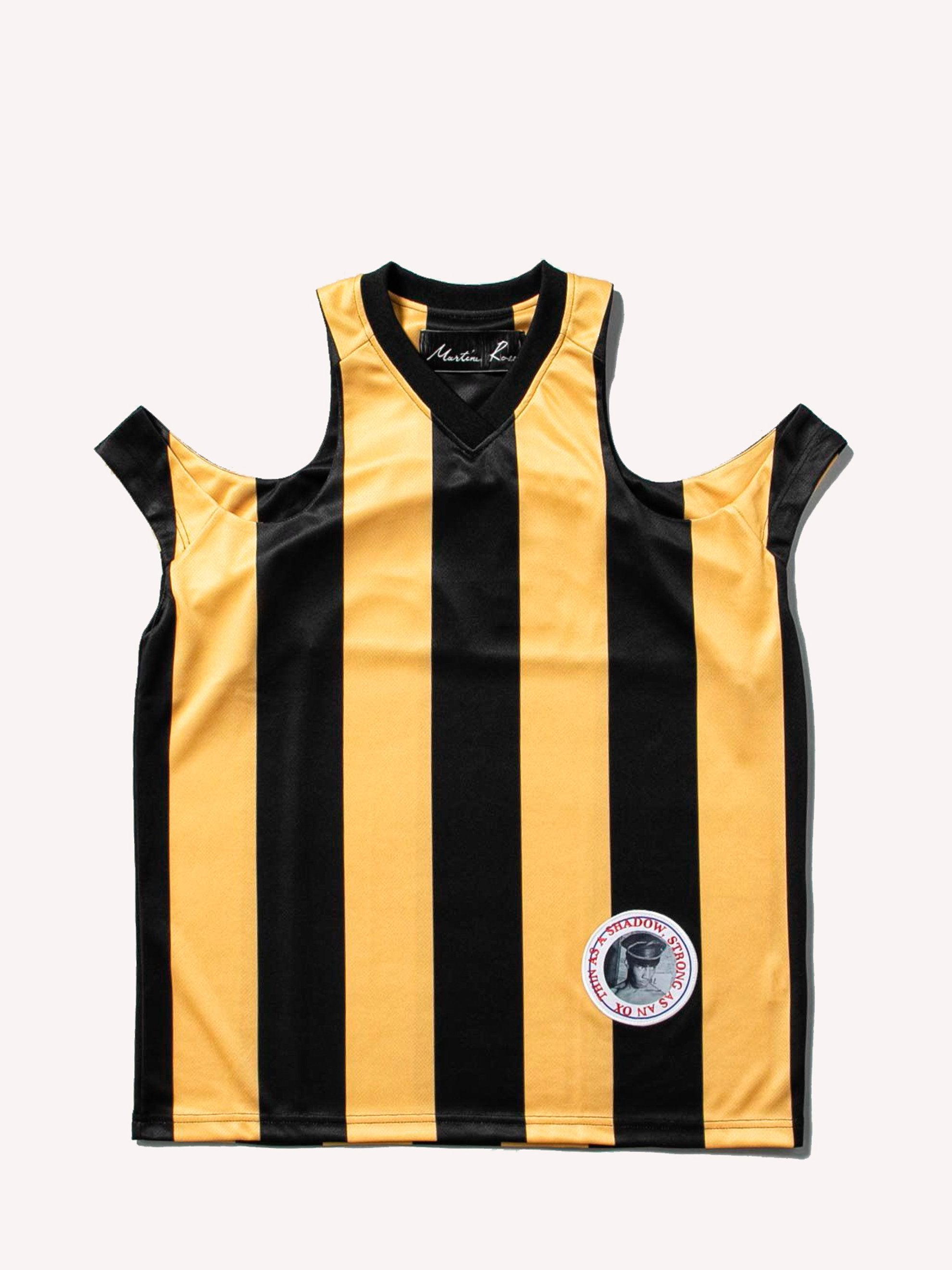 Yellow / Black Cut Out Football Vest 1