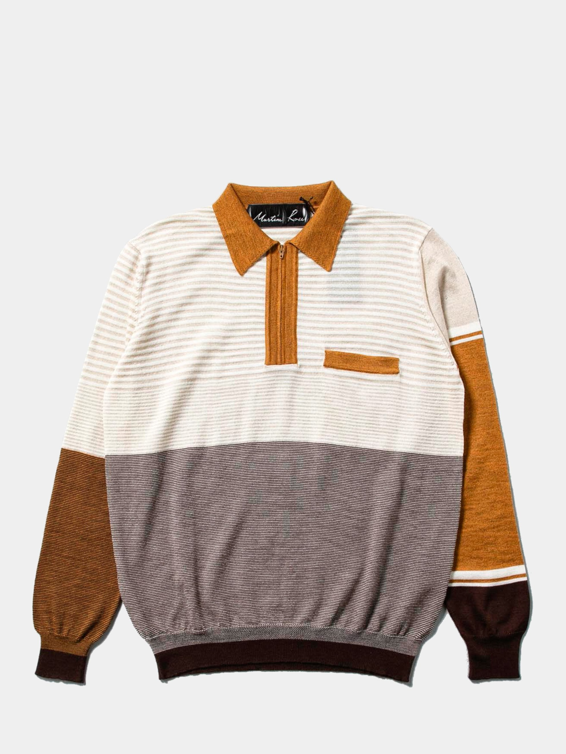 Beige Fine Knit Polo 1