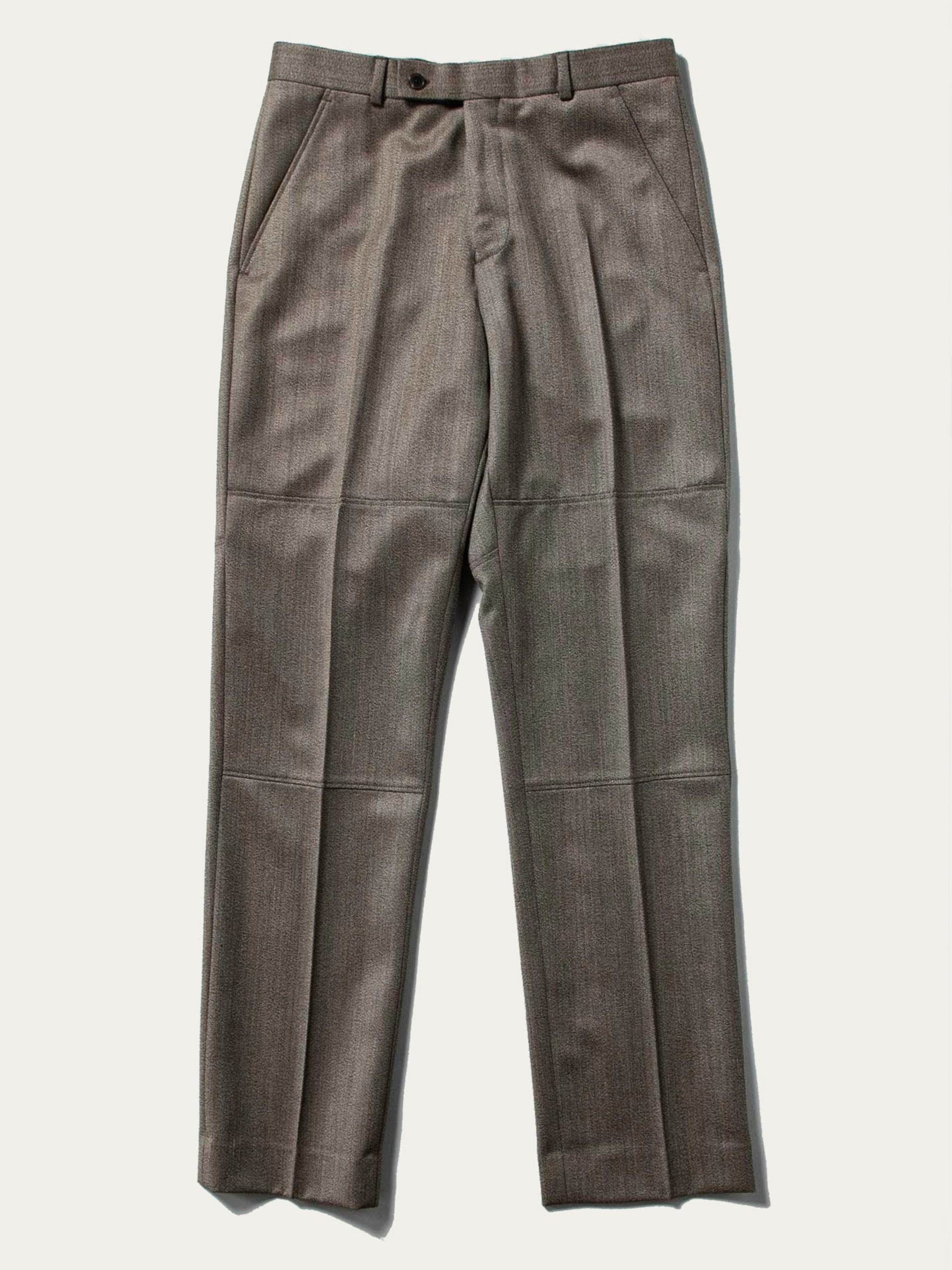 Brown Panelled Tailored Trouser 1