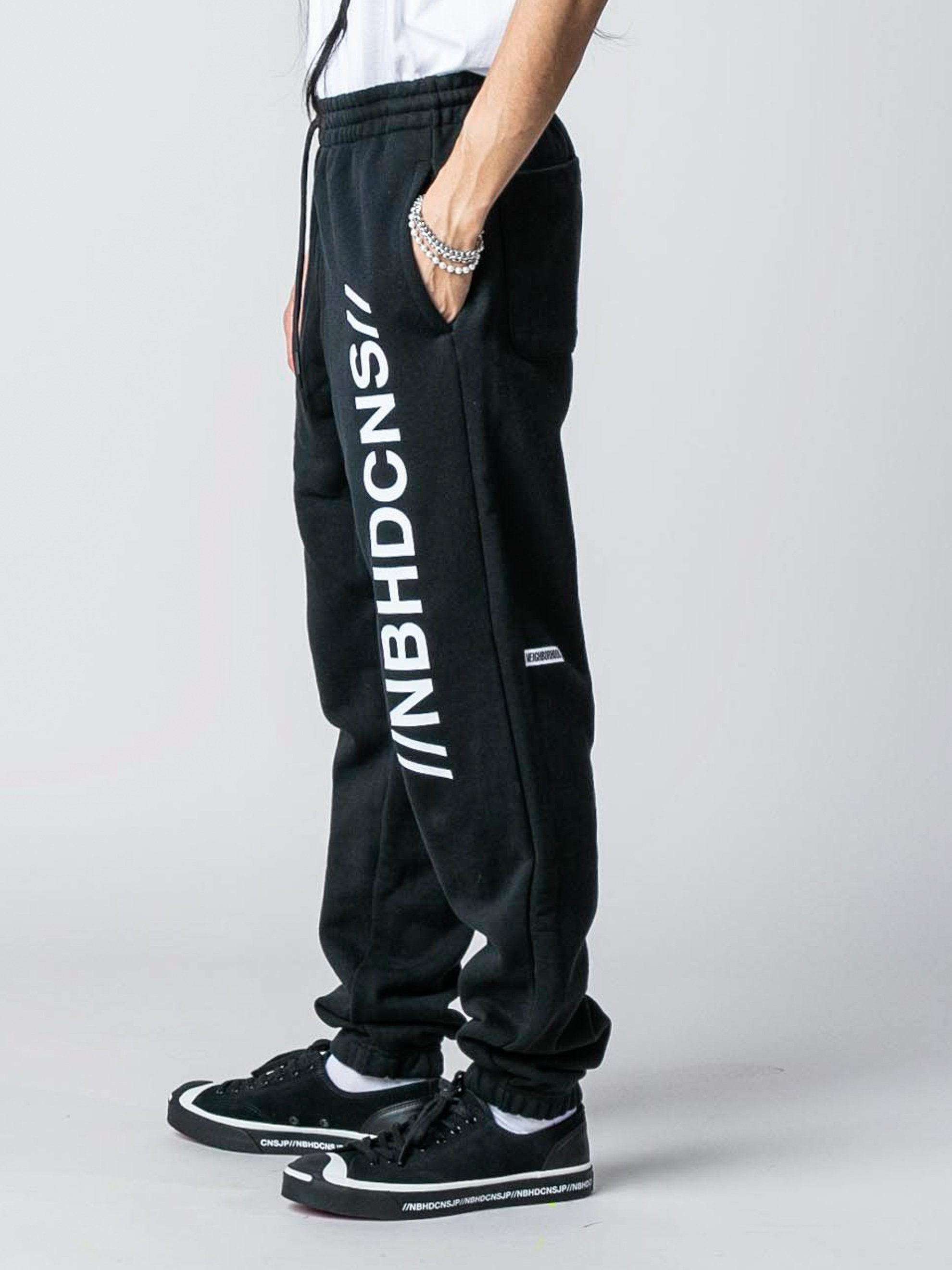 Black Converse x Neighborhood Sweatpant 5