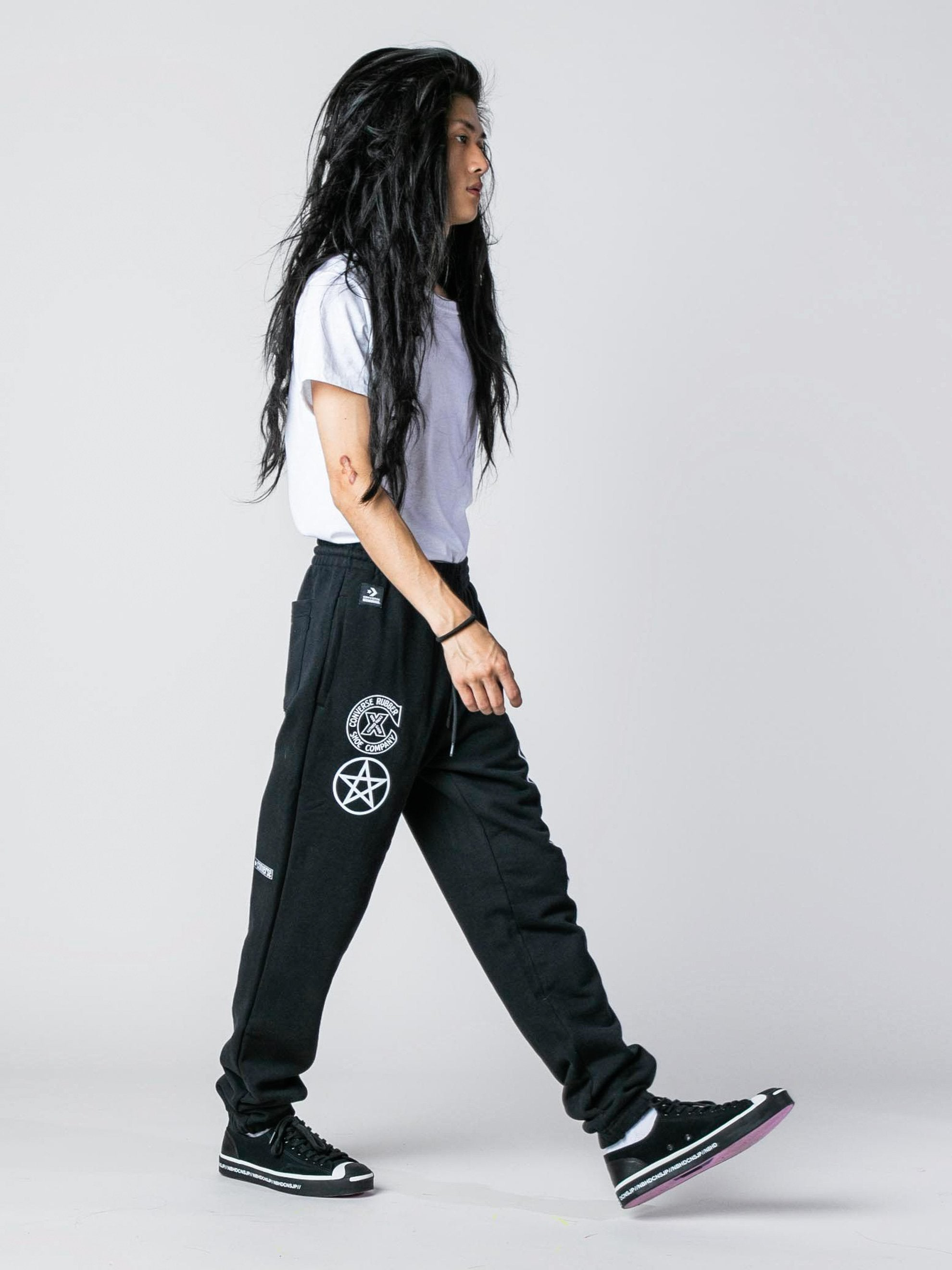 Black Converse x Neighborhood Sweatpant 3