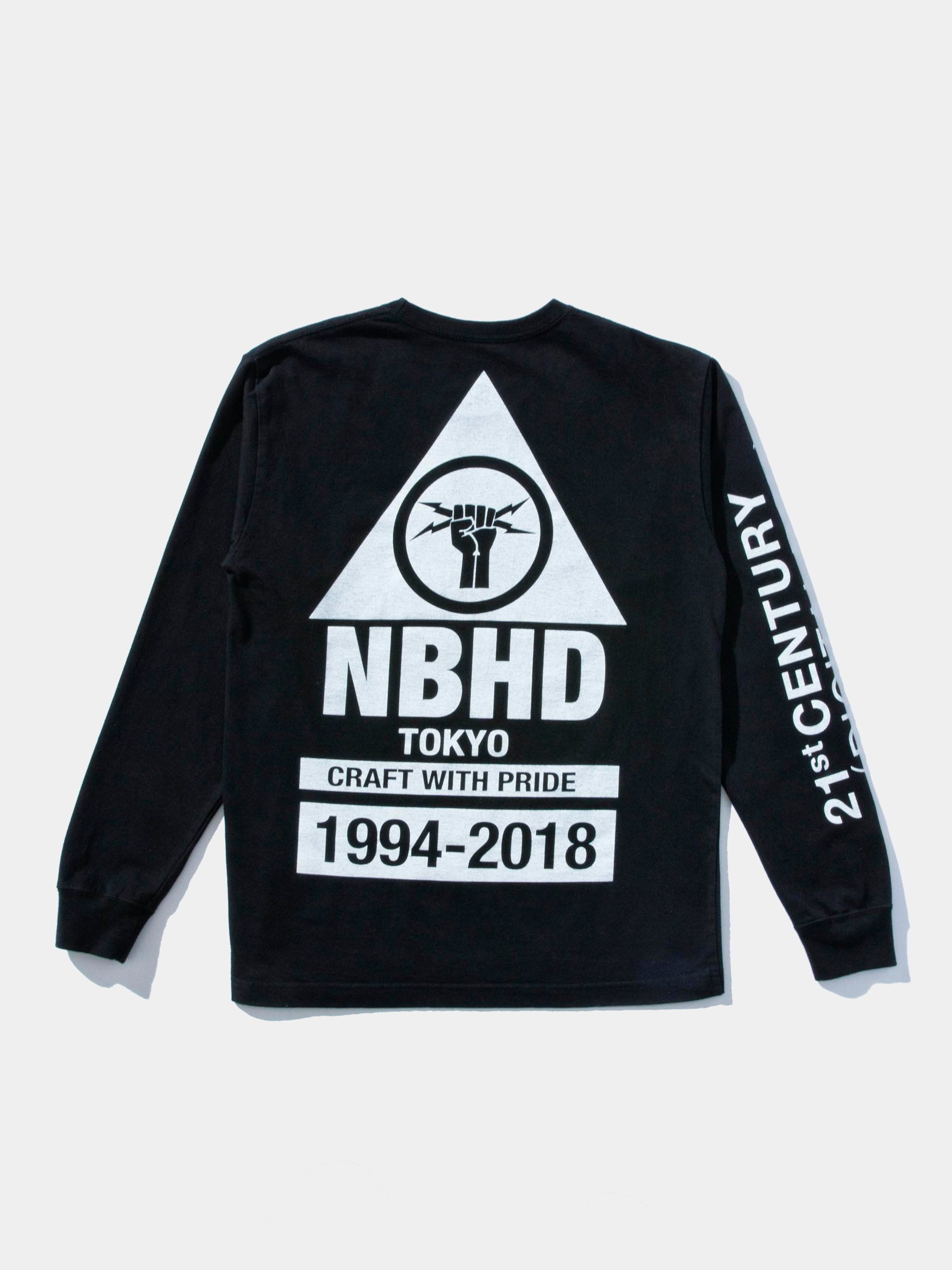 Black Digital Cotton Pullover L/S T-Shirt 1