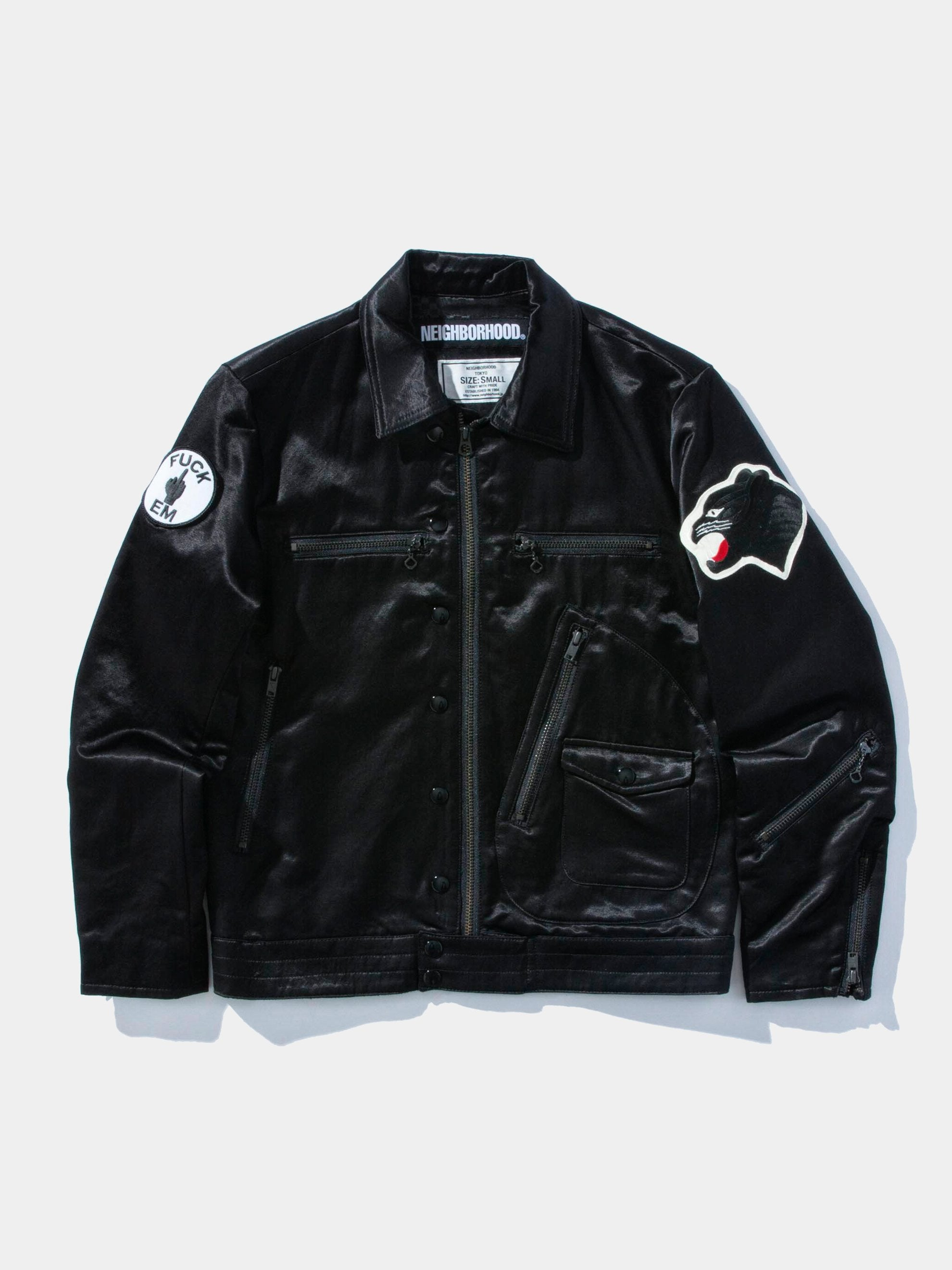 Black Satin Jacket 1