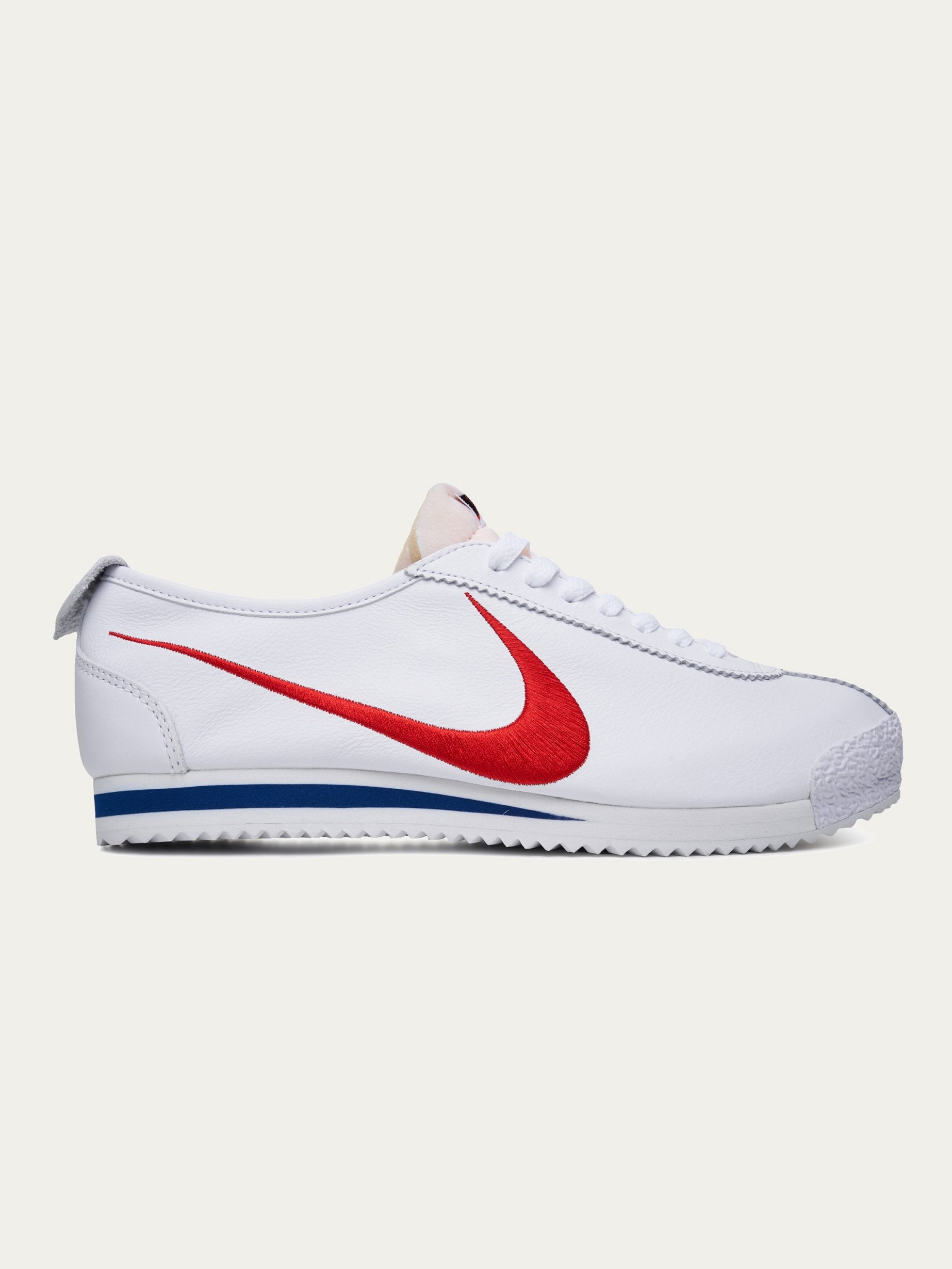 White / Varsity Red/ Game Royal Nike Cortez '72 Shoedog Q (Swoosh) 1