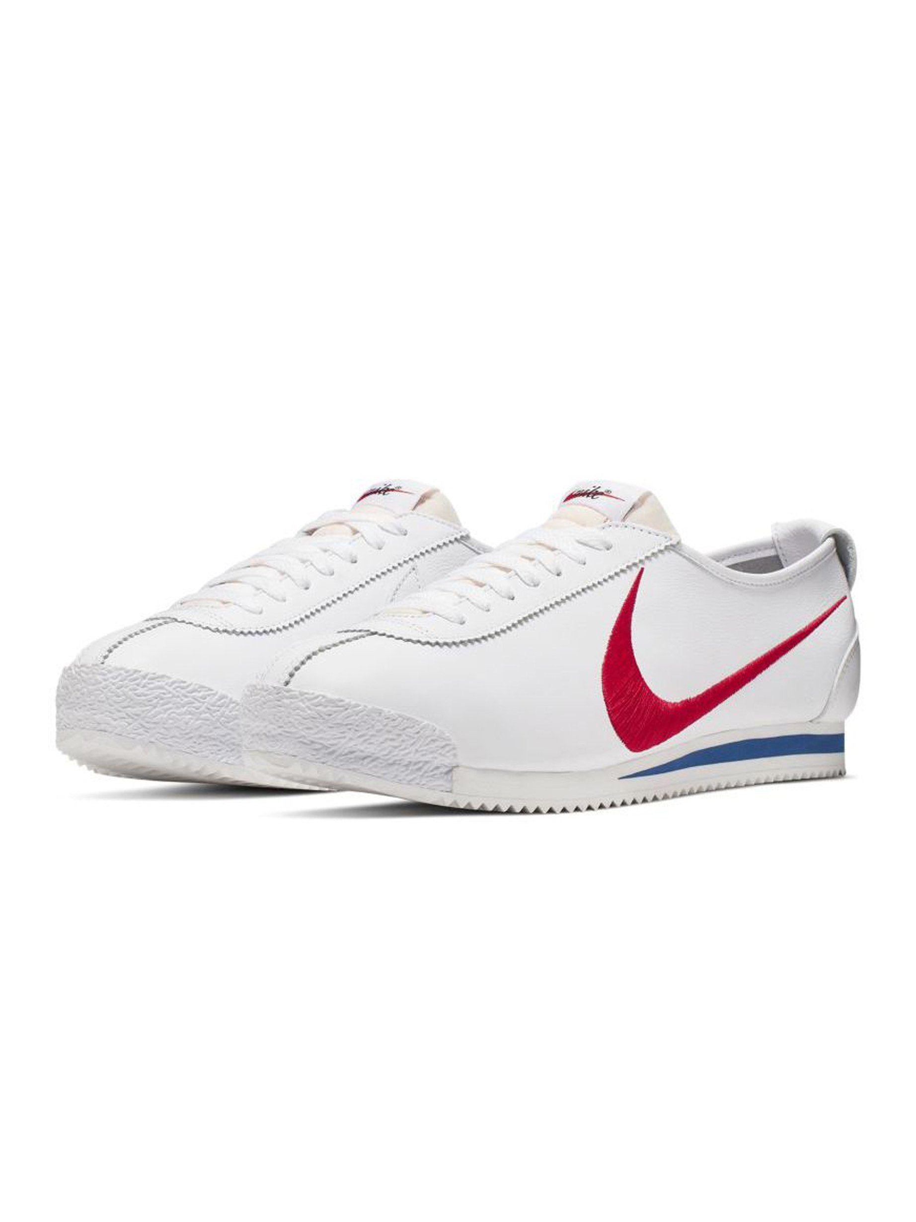 White / Varsity Red/ Game Royal Nike Cortez '72 Shoedog Q (Swoosh) 2
