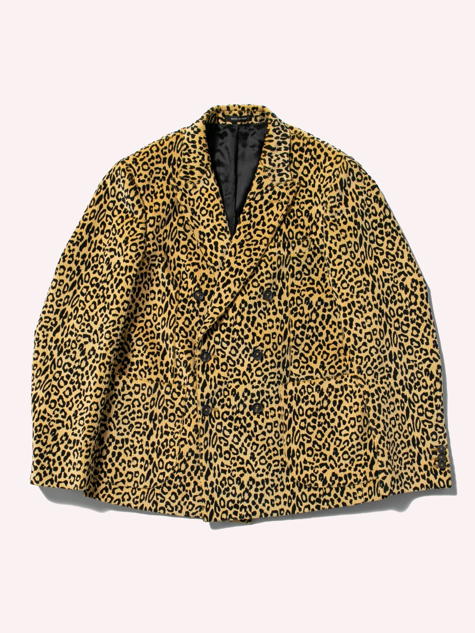 Leopard Leopard Corduroy Double Breasted Sport Coat 1