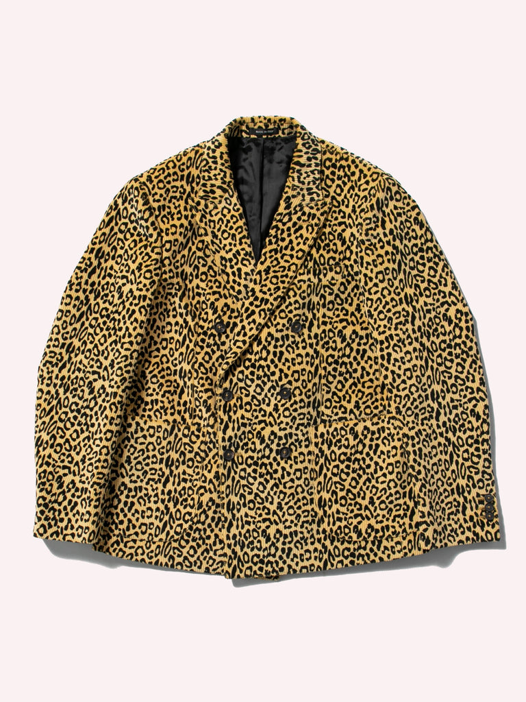 Leopard Corduroy Double Breasted Sport Coat