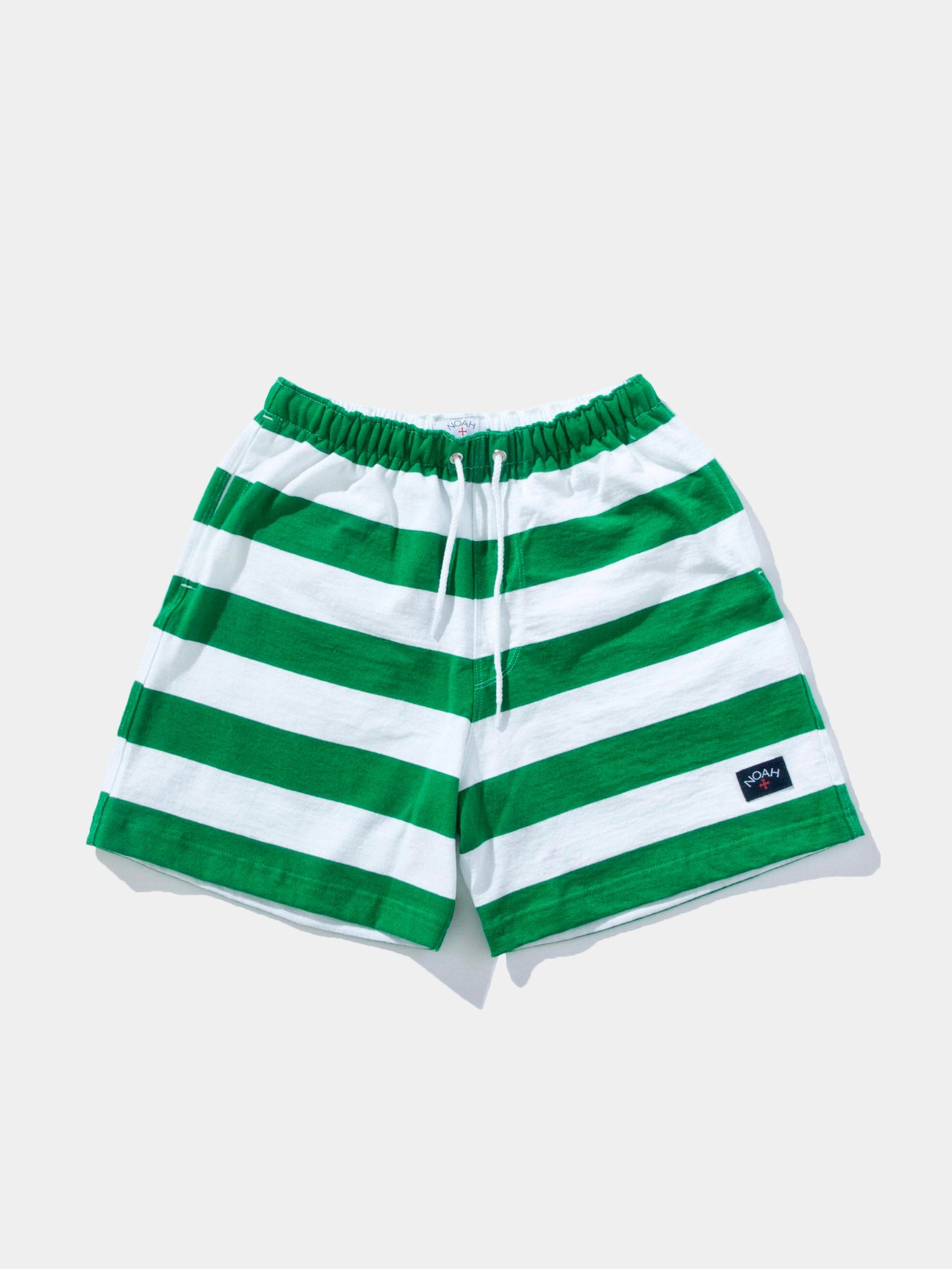 Kelly Green/White Stripe Rugby Short 1