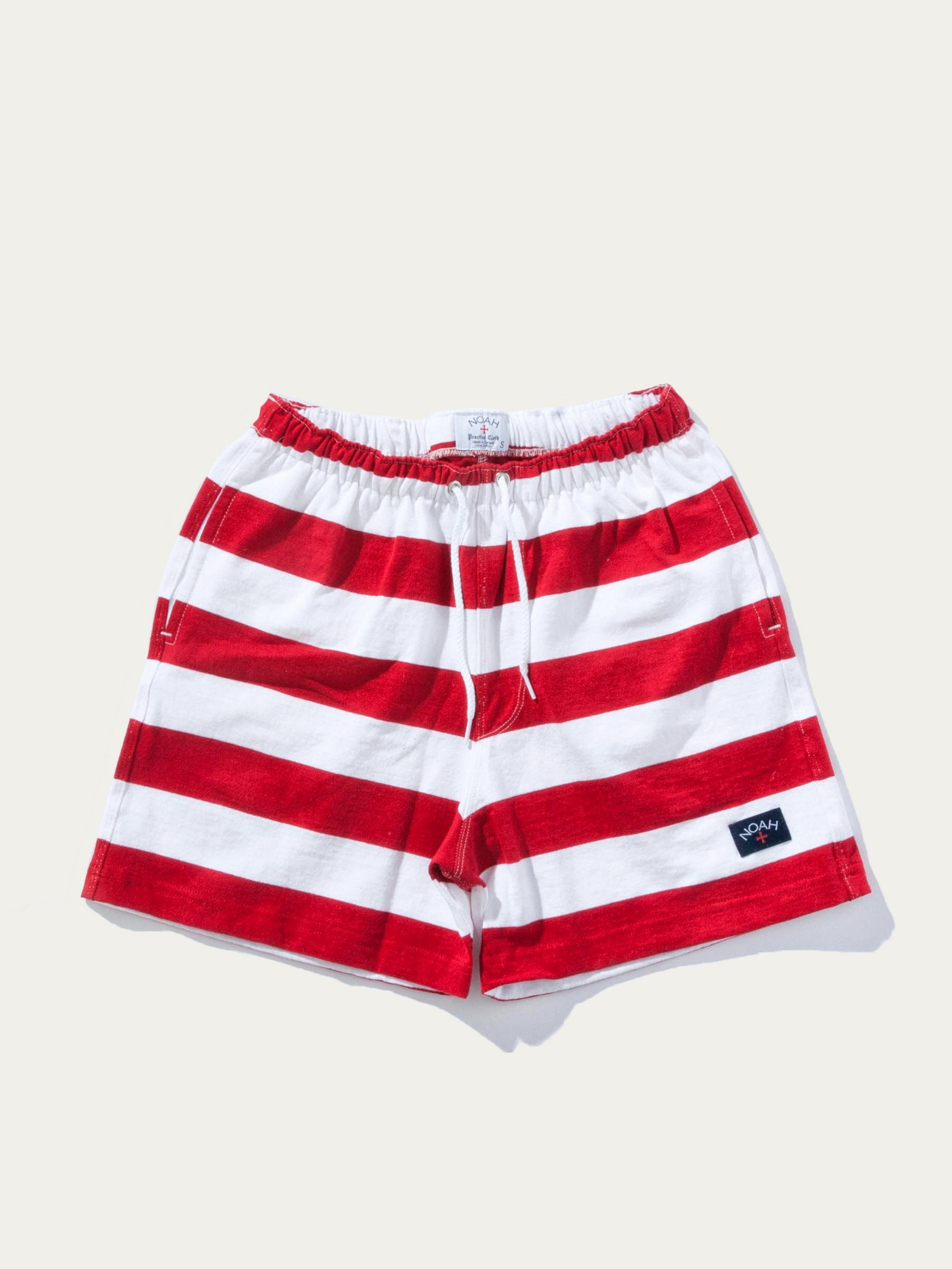 Dark Red/White Stripe Rugby Short 1