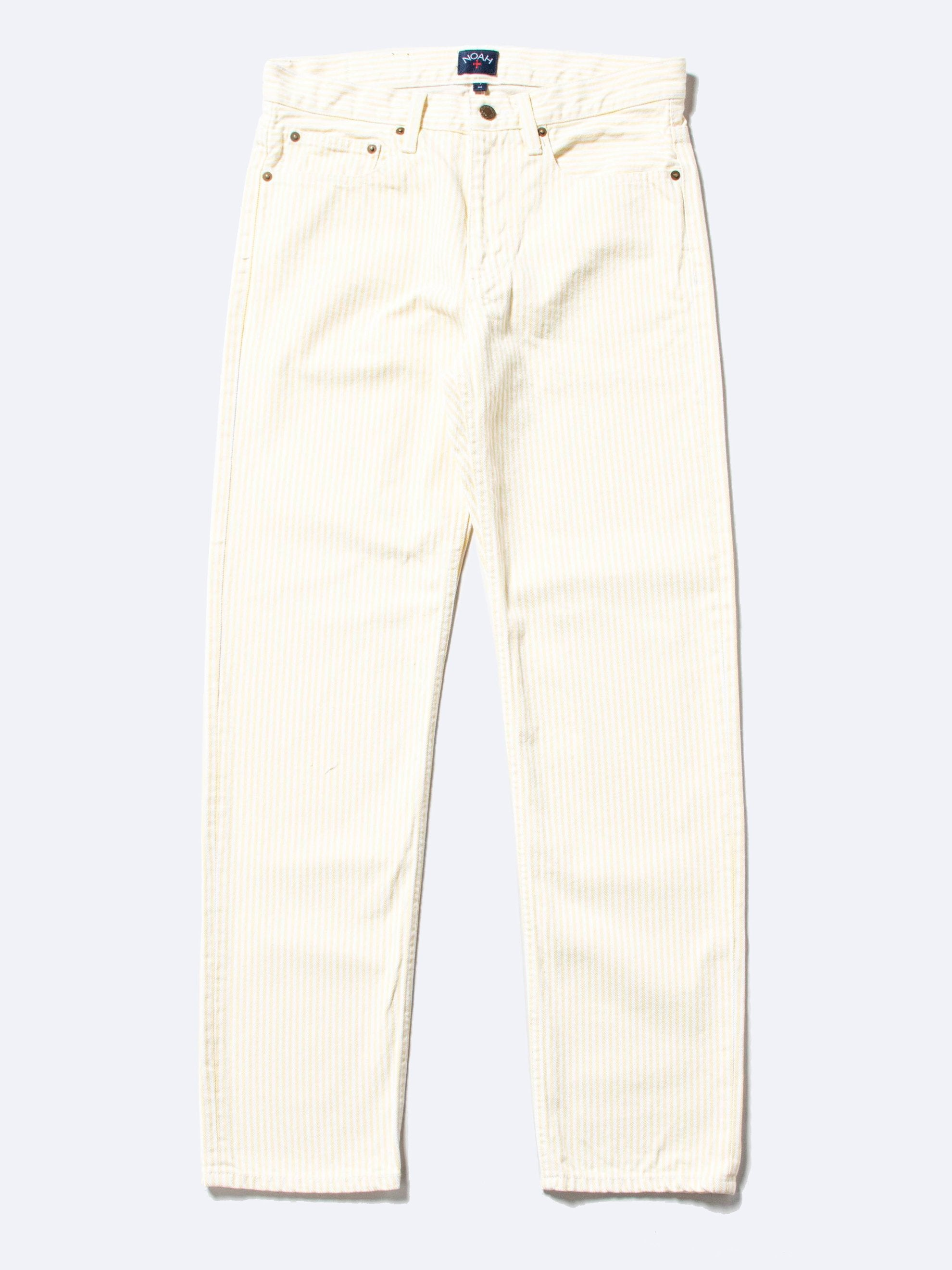 Yellow/White Stripe 5-Pocket Jean 1
