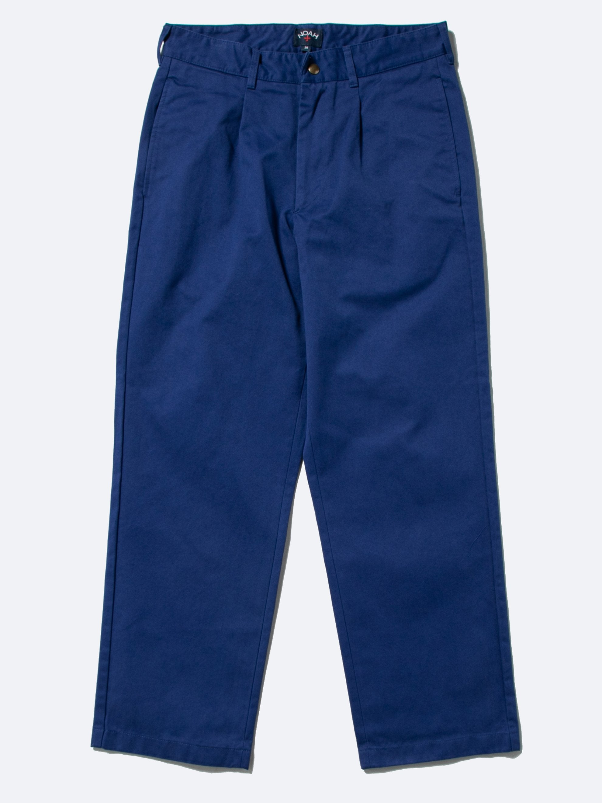 Blue Single Pleat Chino 1