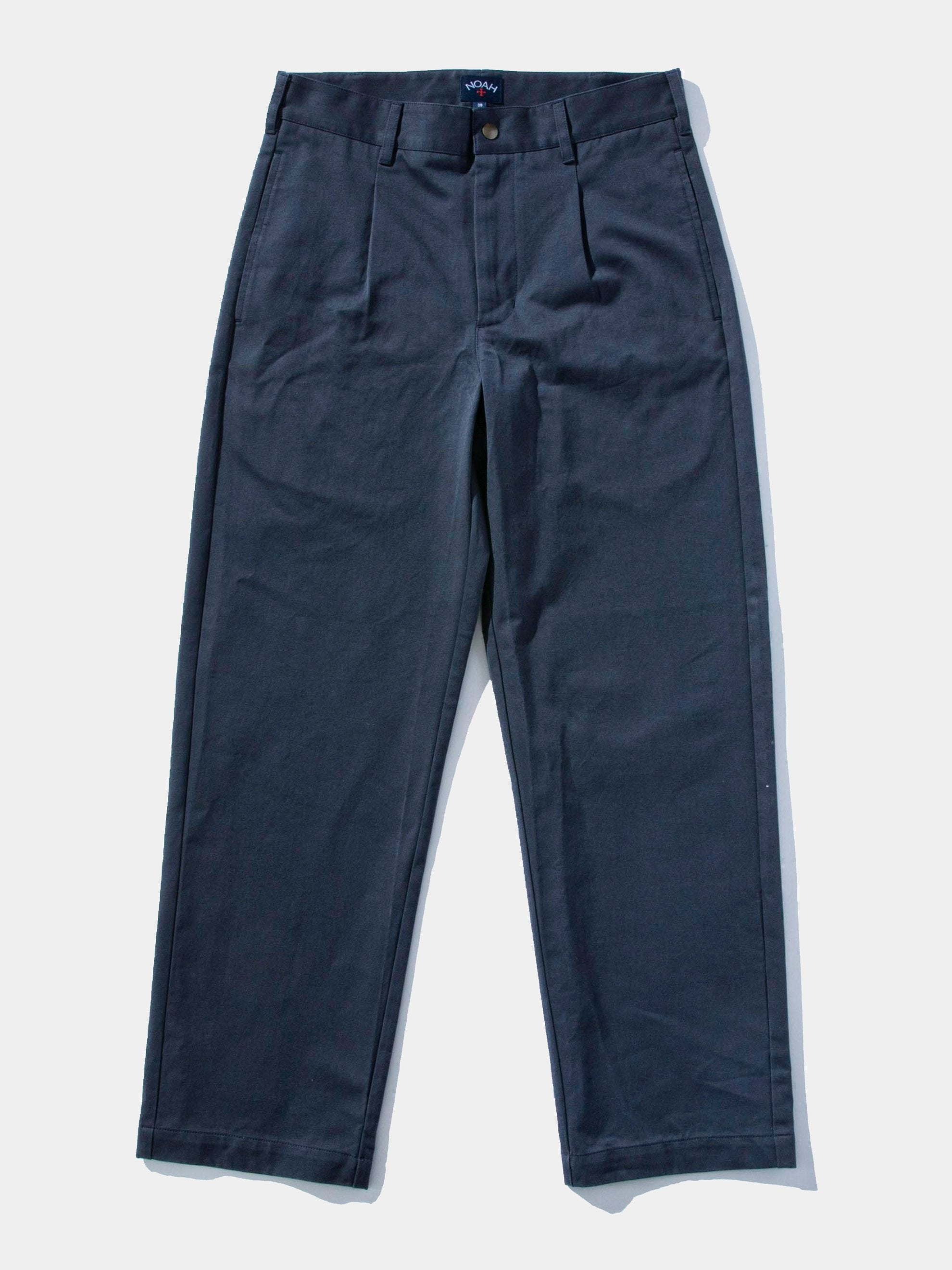 Navy Single Pleat Pant 1