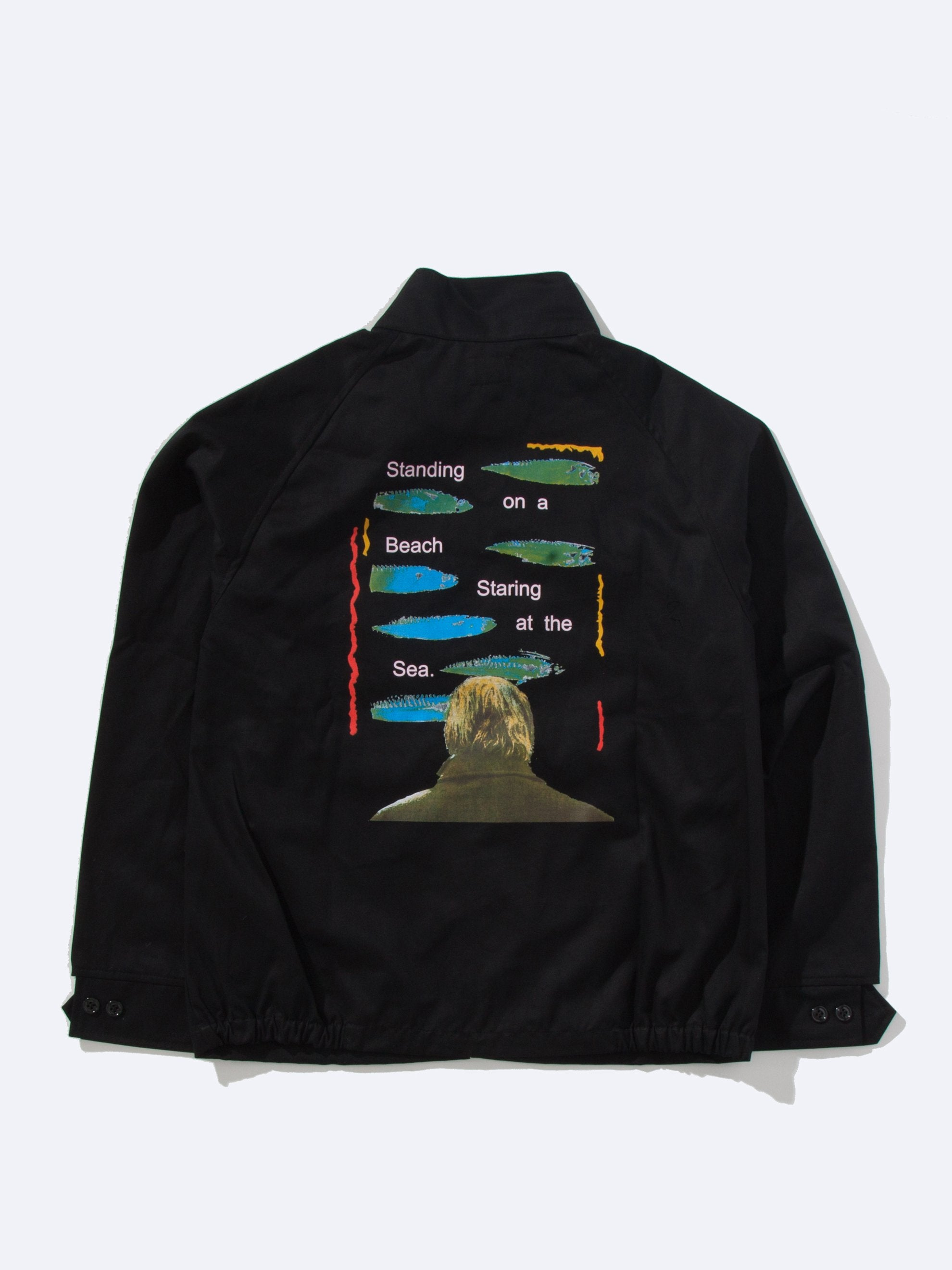 Black The Cure Staring Work Jacket 1