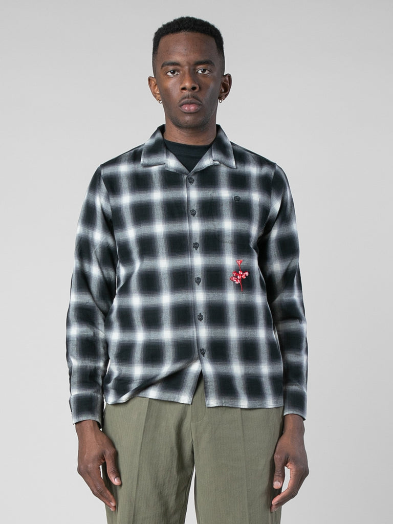Violator Rose Shadow Plaid Fanel Shirt13801503948877