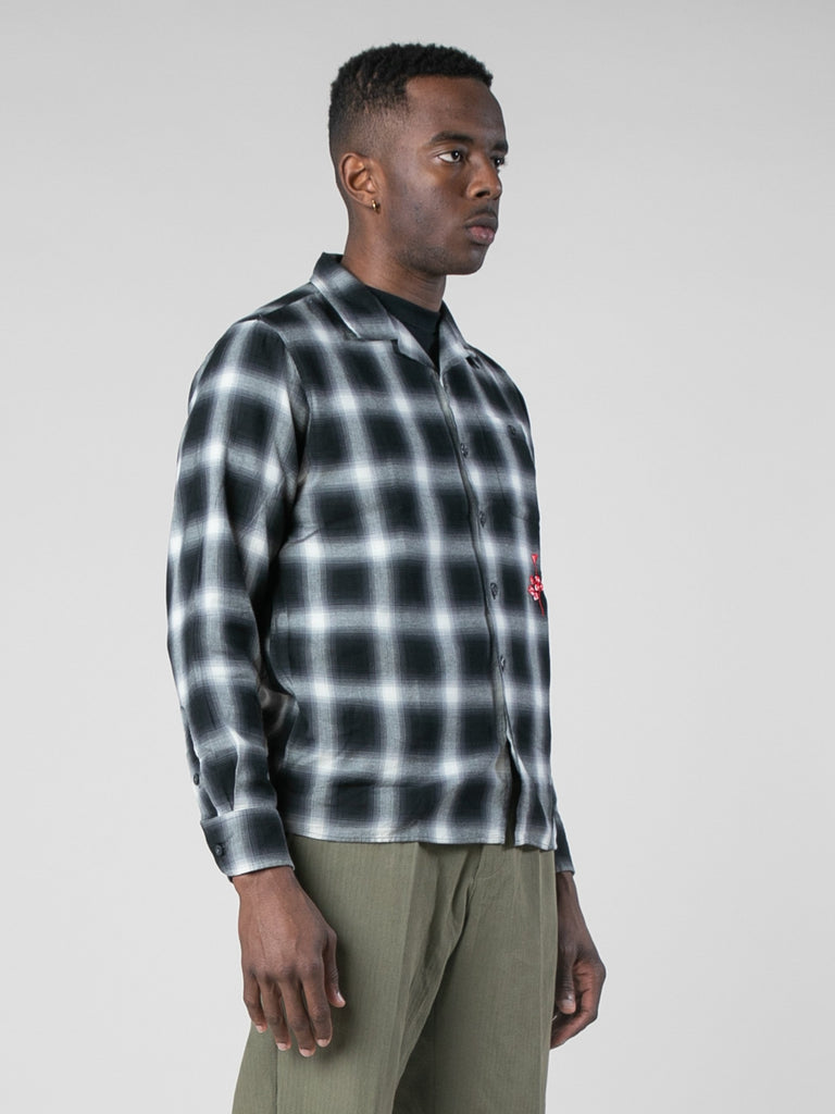 Violator Rose Shadow Plaid Fanel Shirt13801504014413