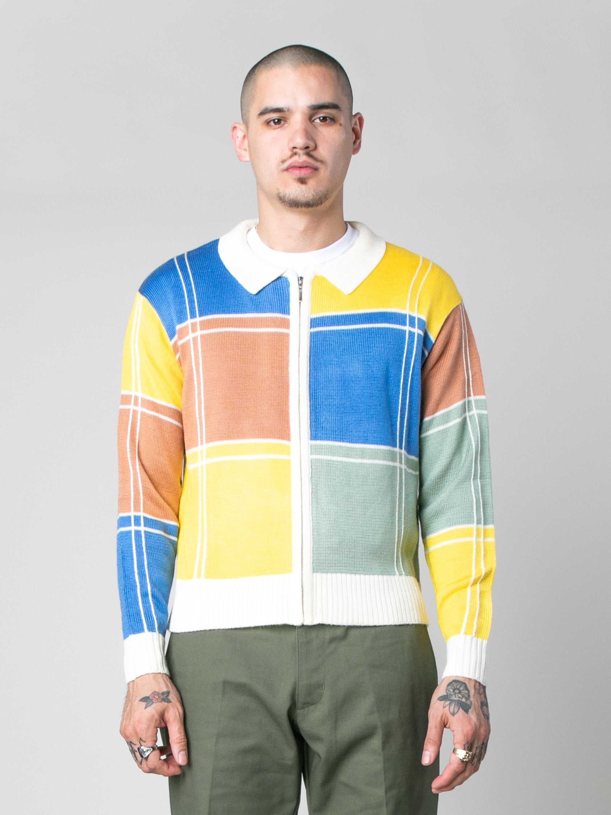 Colorblock Colorblock Zip Sweater 2