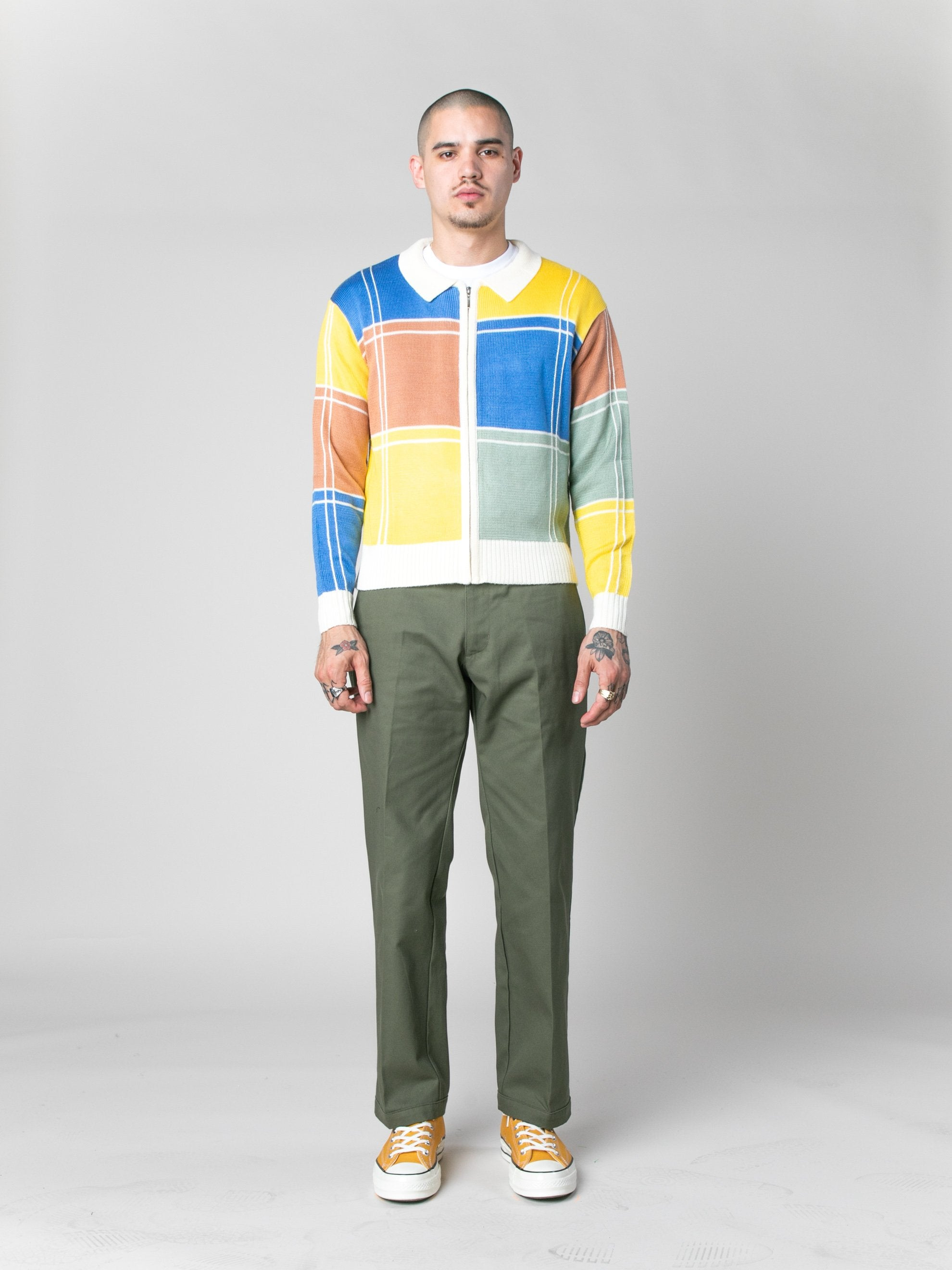 Colorblock Colorblock Zip Sweater 3